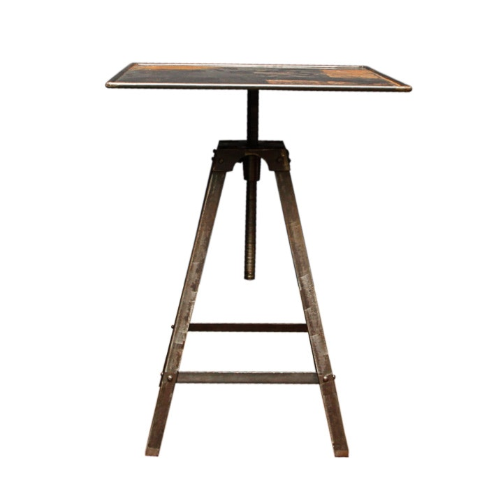 Industrial Style Accent Table