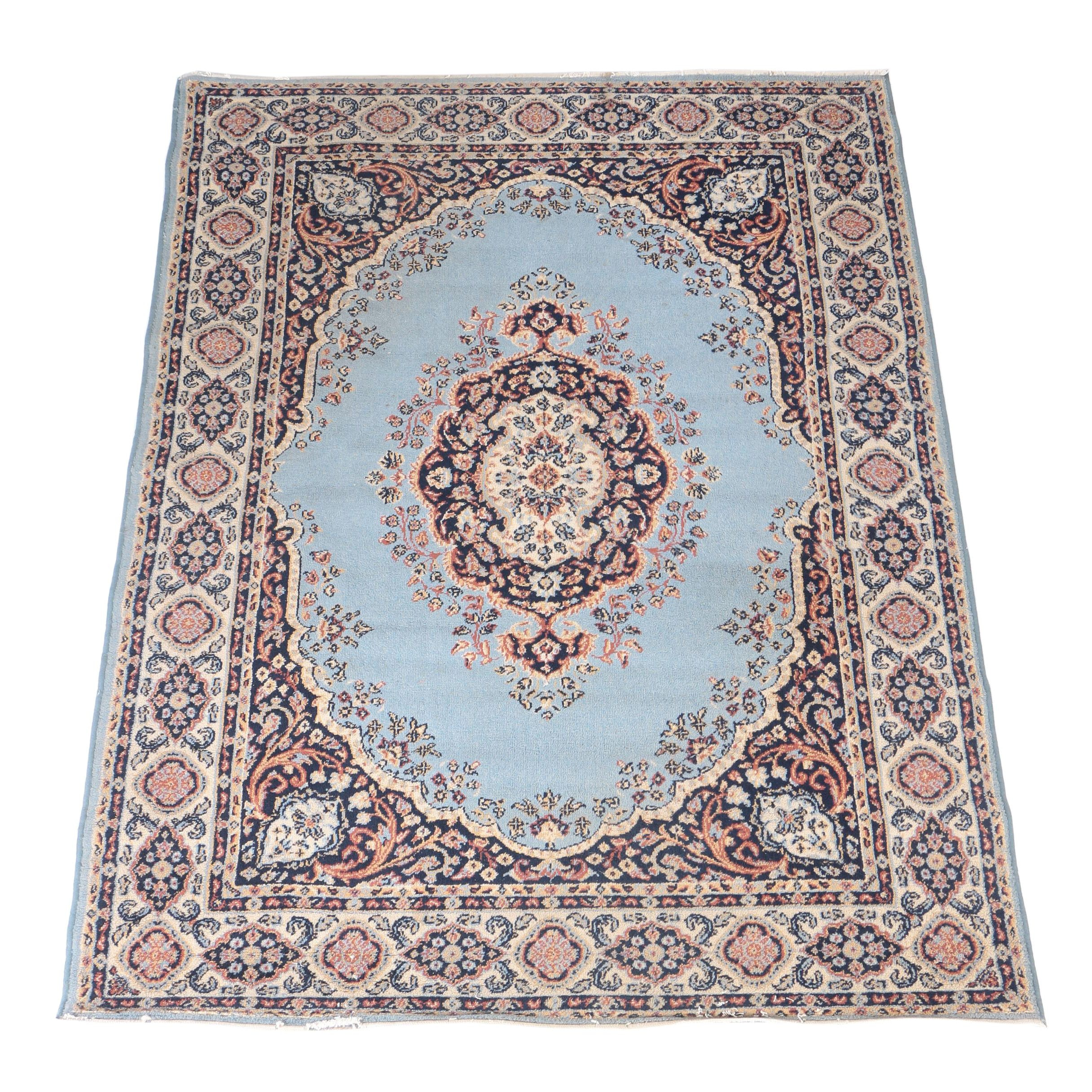 Power-Loomed Persian-Inspired Wool Area Rug