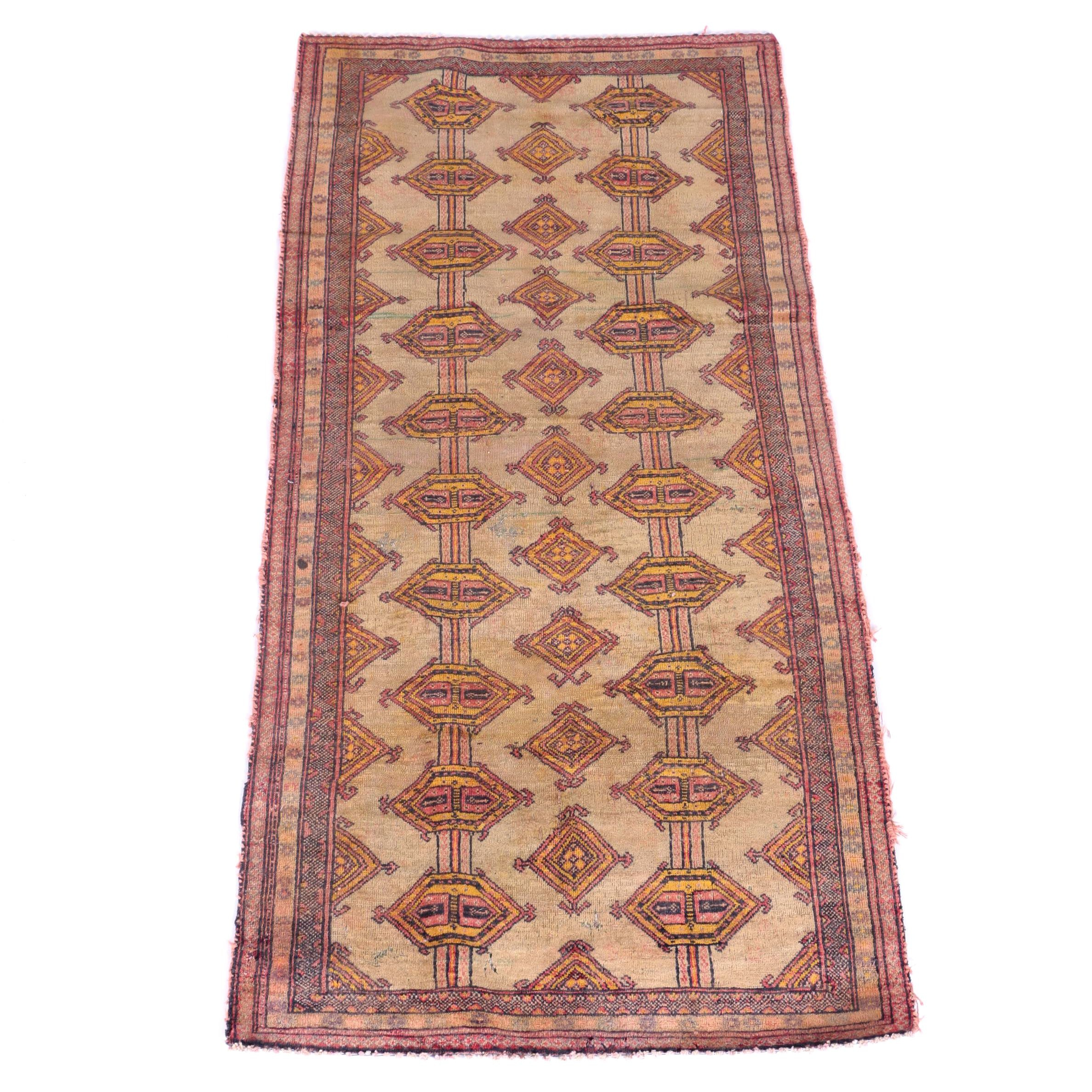 Hand-Knotted Indo-Bokhara Area Rug