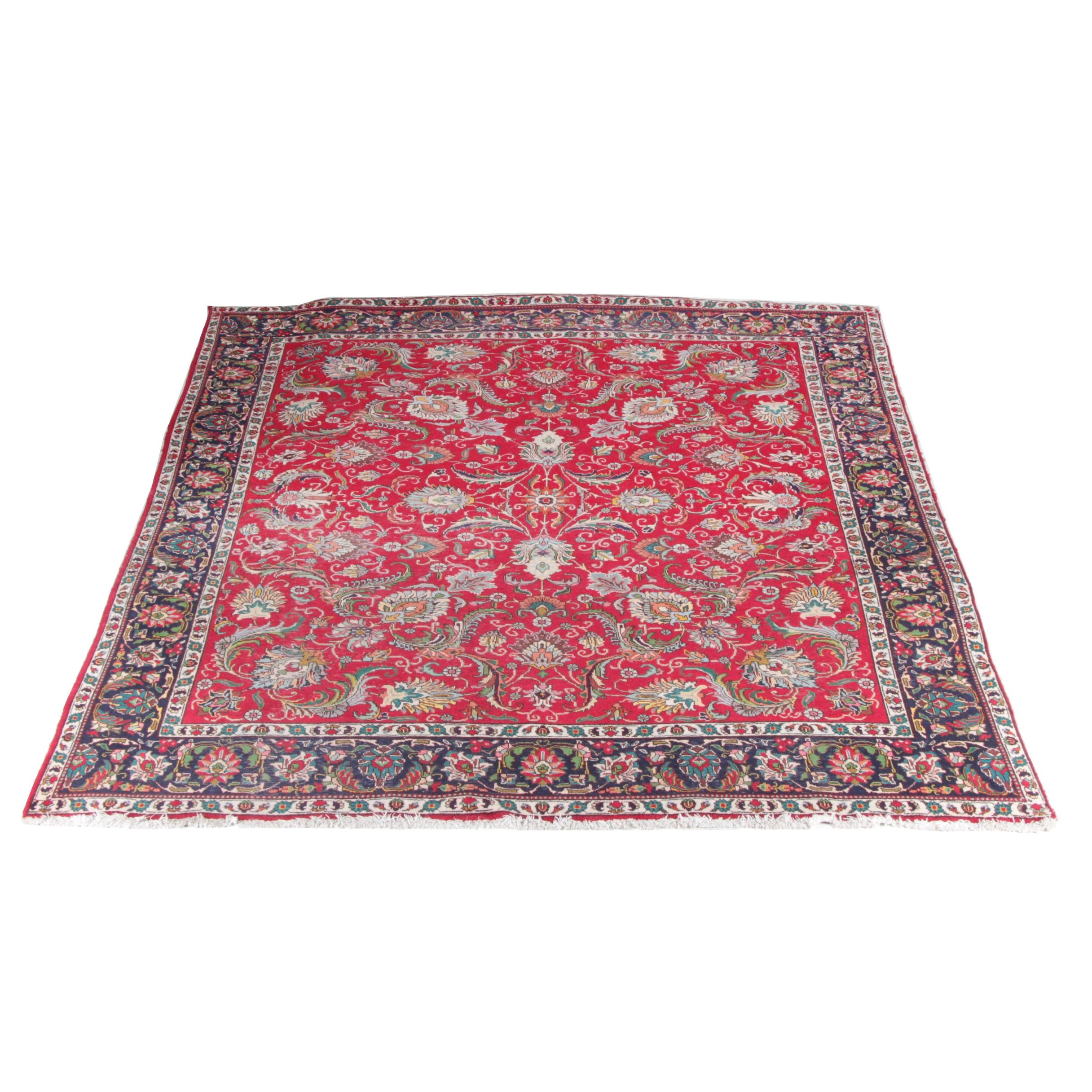 Hand-Knotted Romanian Wool Area Rug