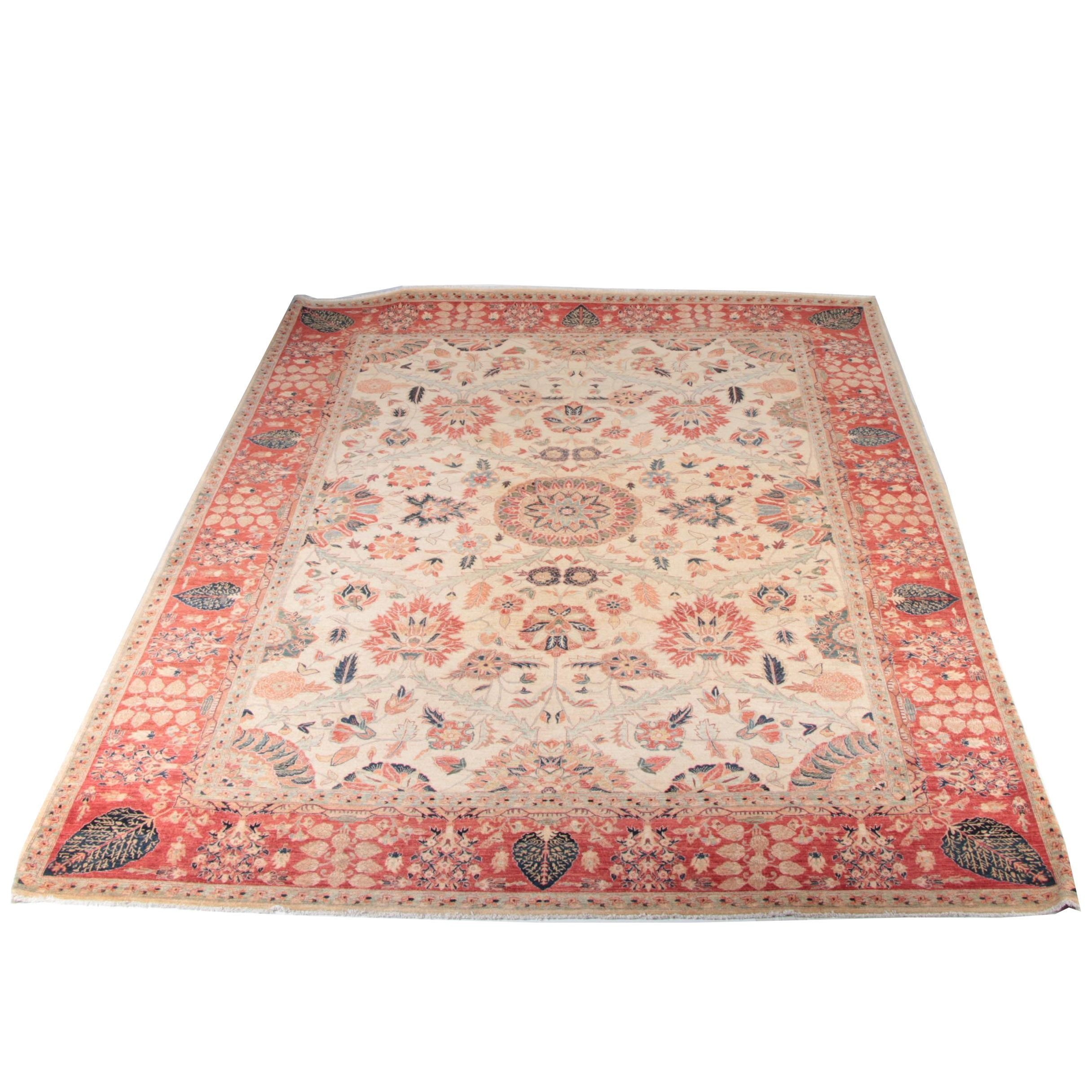 Finely Hand-Knotted Romanian Wool Area Rug