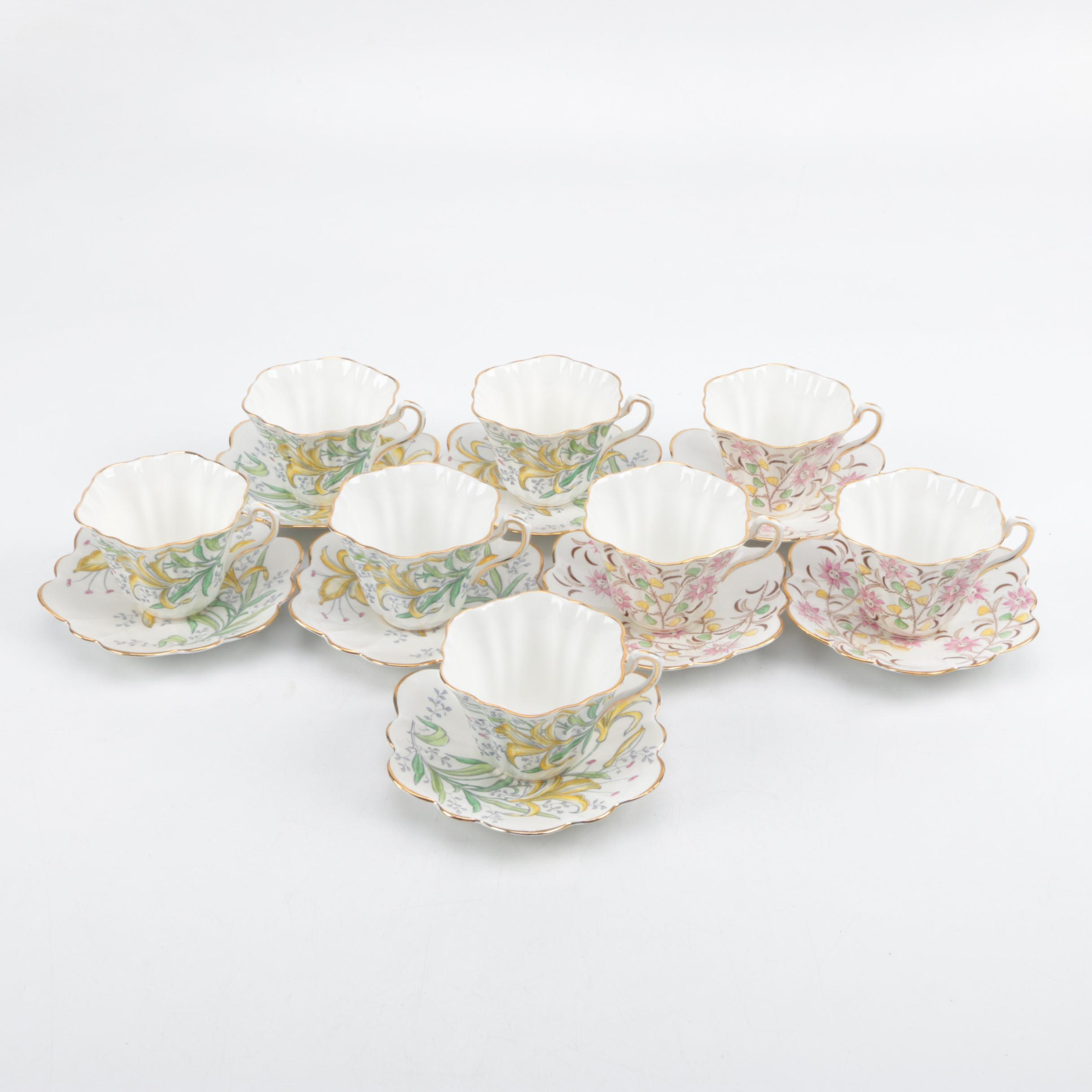 Rosina Bone China Teacups and Saucers