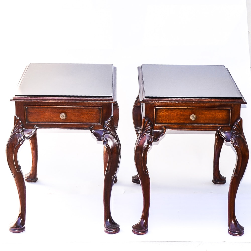 Pair of Mahogany Queen Anne Style End Tables