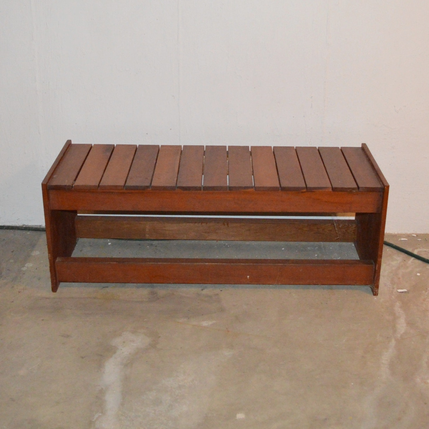Wood Slatted Bench