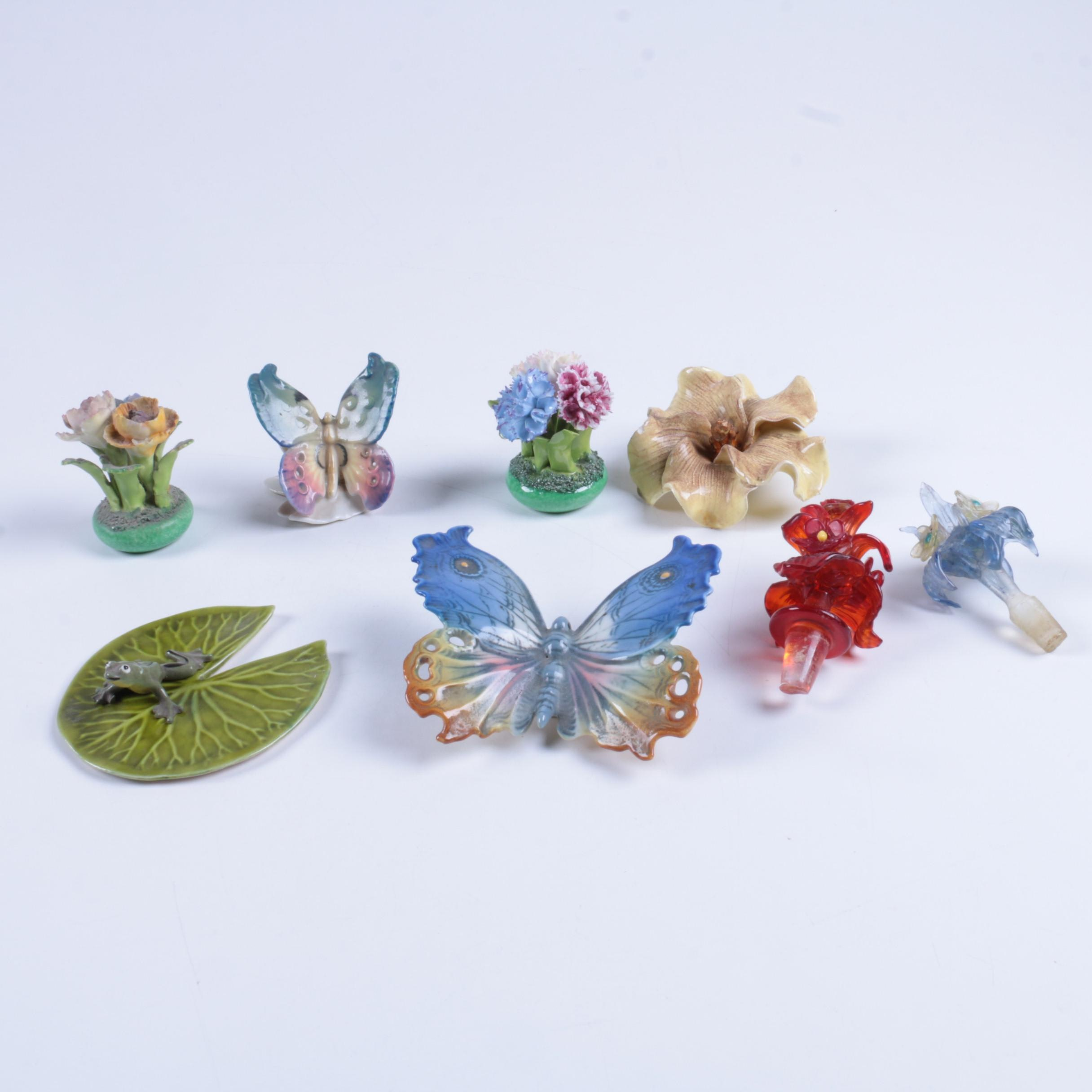 Staffordshire Floral Decor and Assortment
