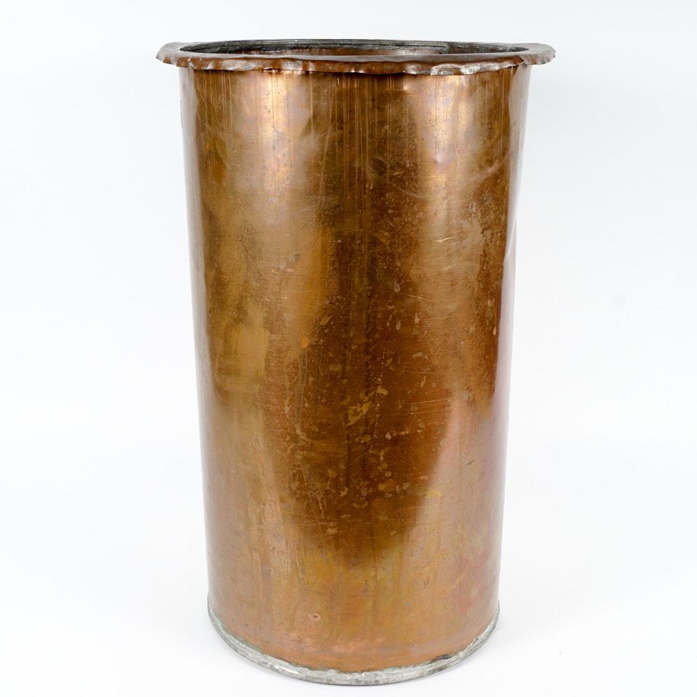 Vintage Copper Umbrella Stand