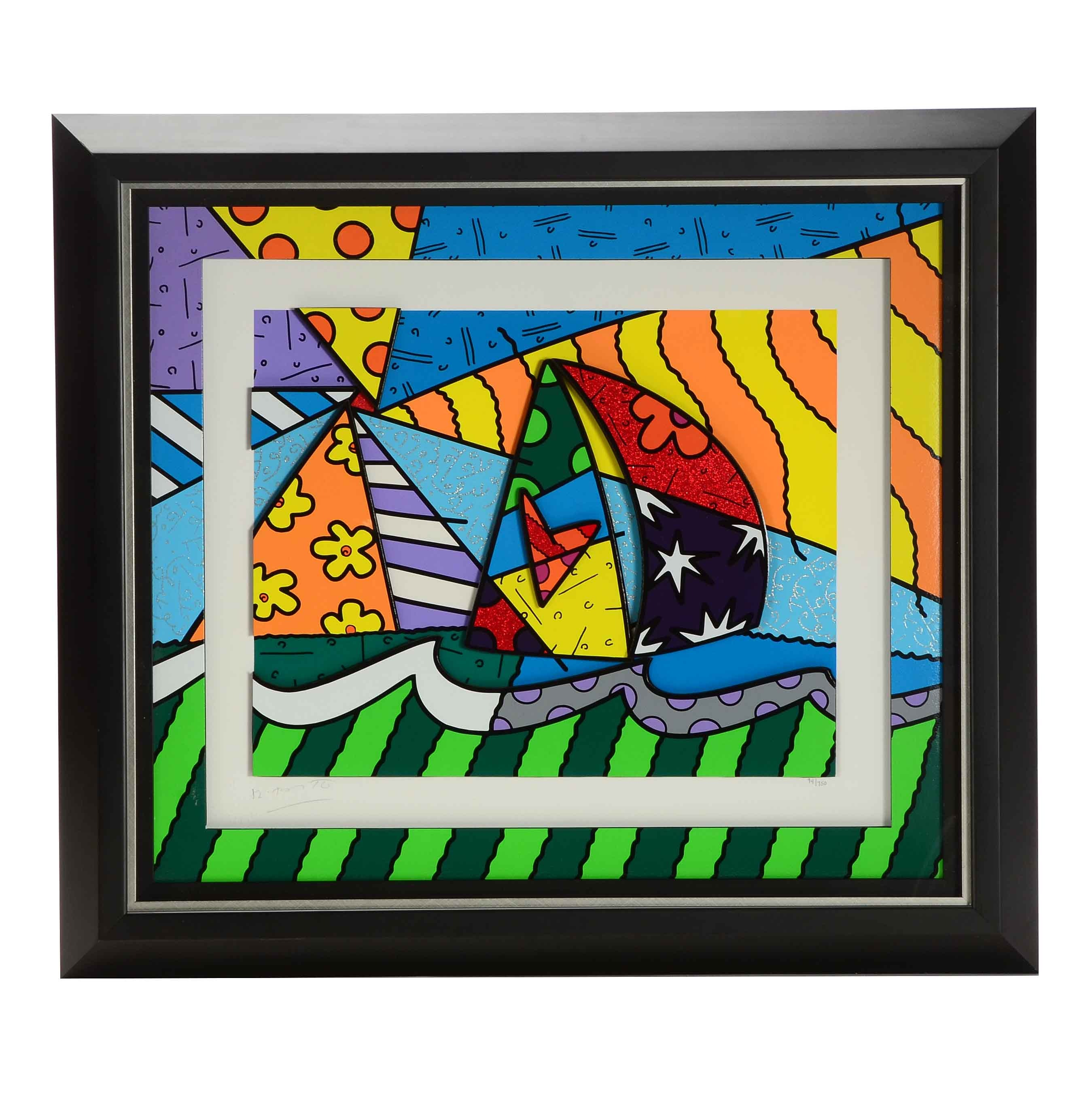 "Robert Britto Limited Edition Three Dimensional Print ""Sailing"""