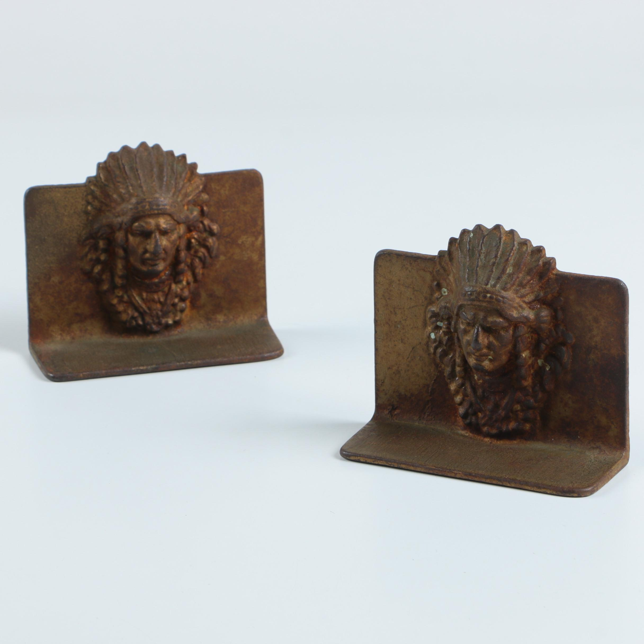 1920s Native American Style Bookends