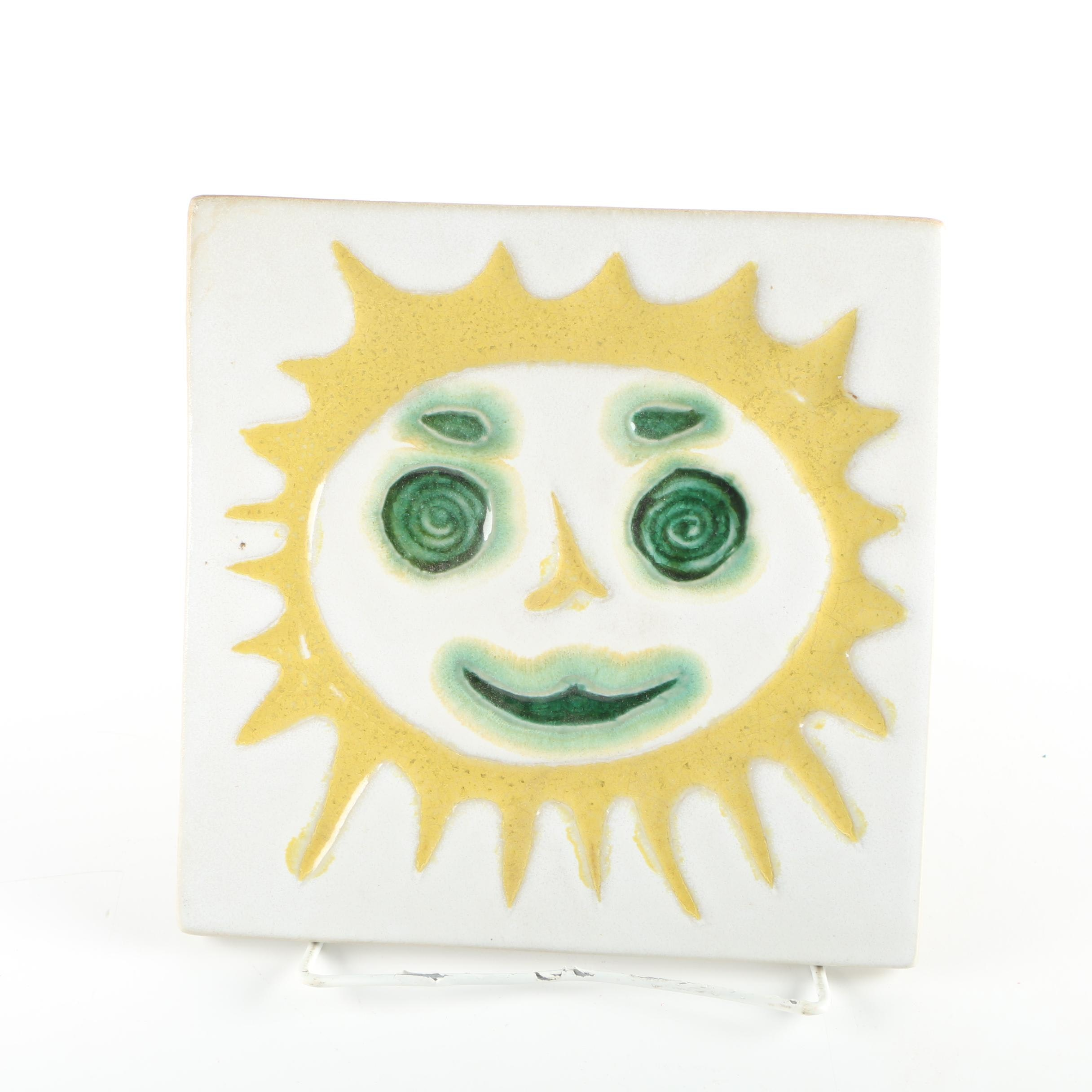 1960s Bennington Hand Glazed Ceramic Tile
