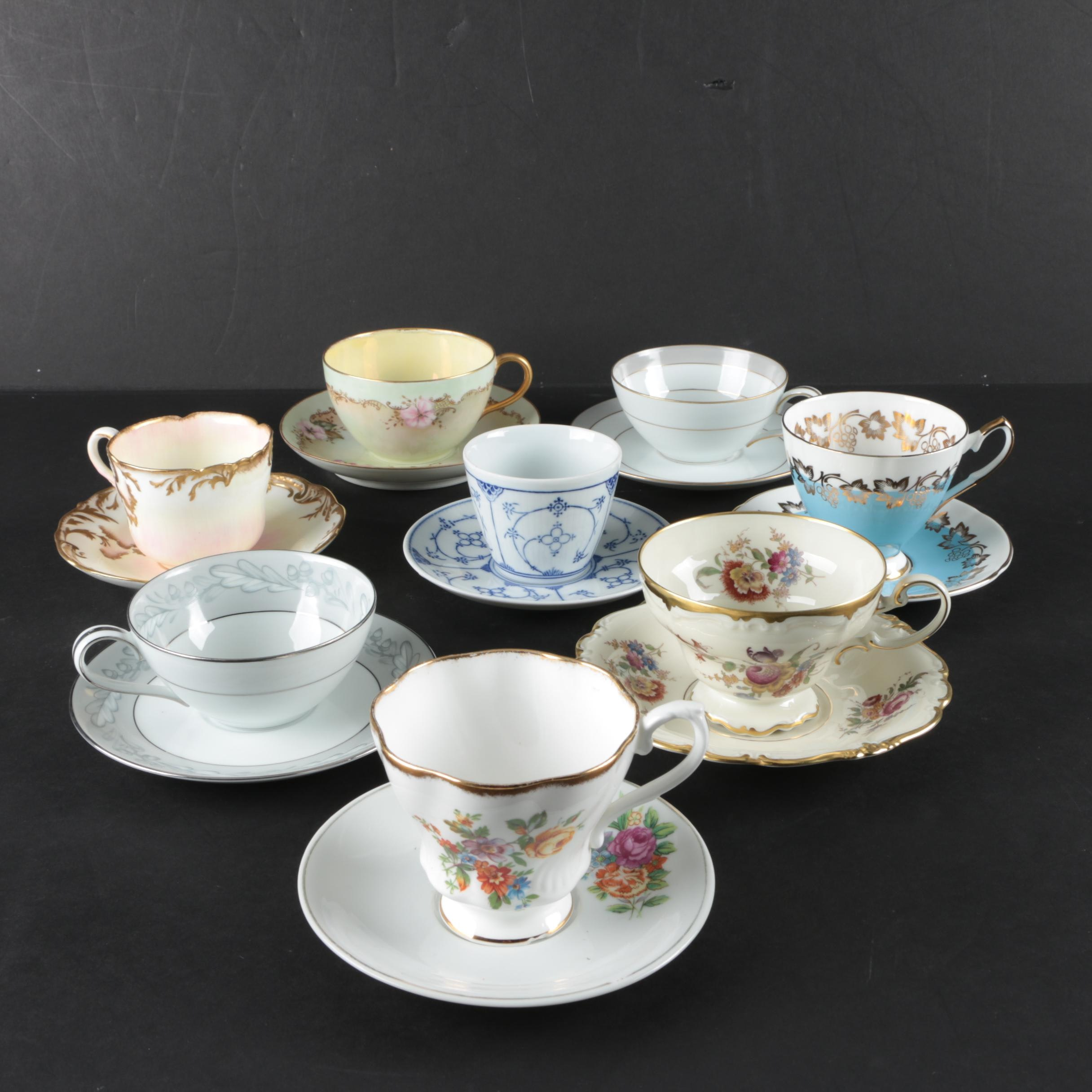 Teacups and Saucers Featuring Noritake