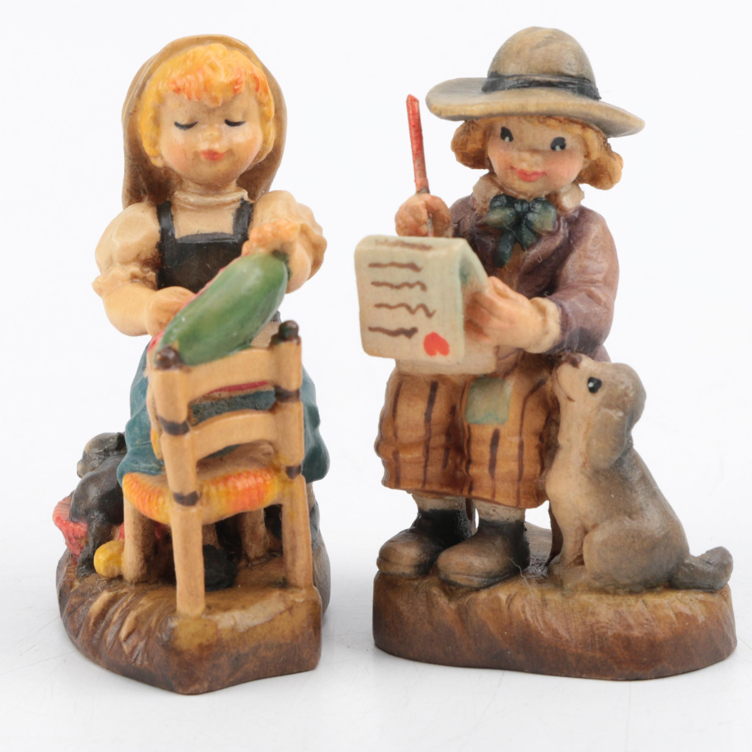 ANRI Carved Wooden Figurines