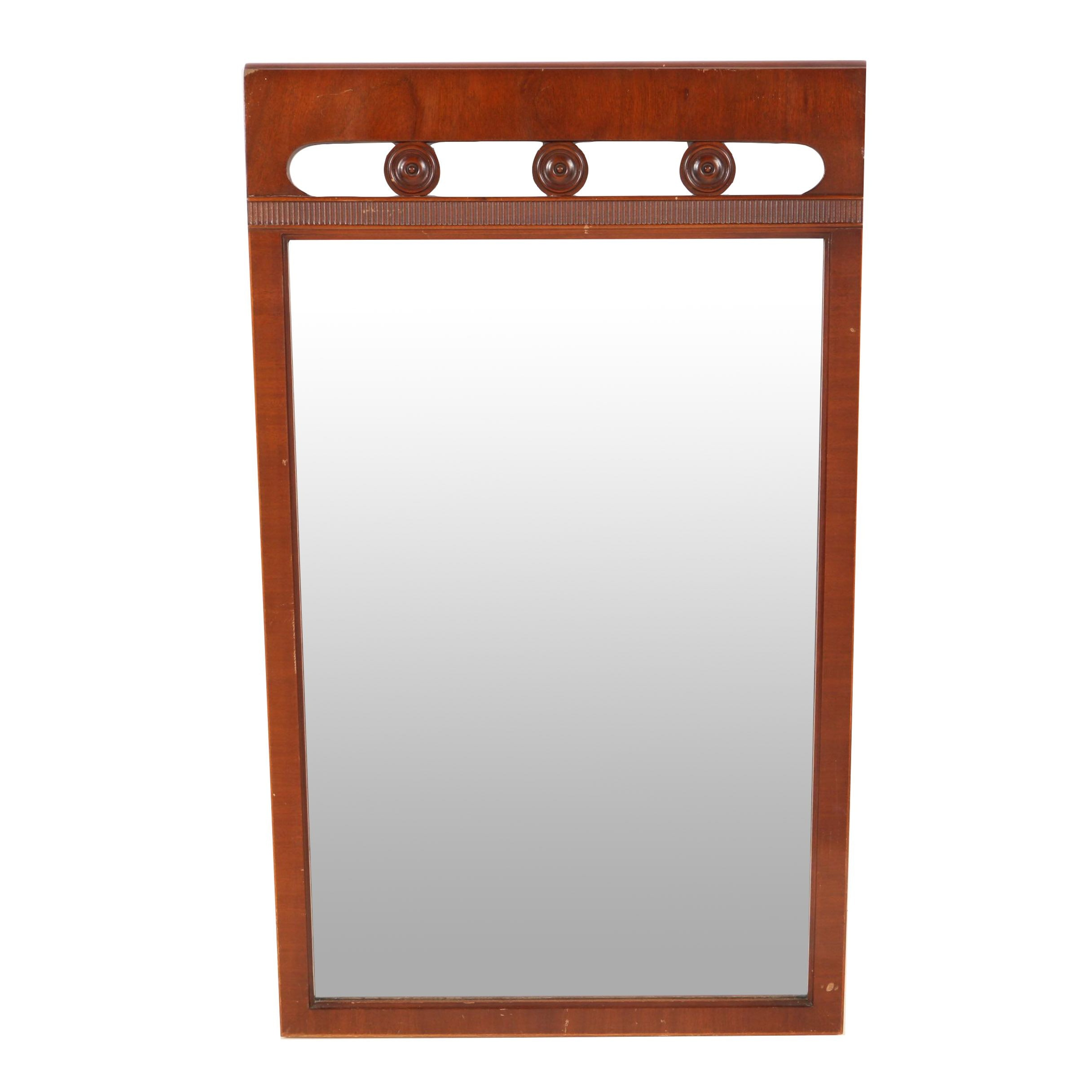 Carved Wooden Framed Wall Mirror