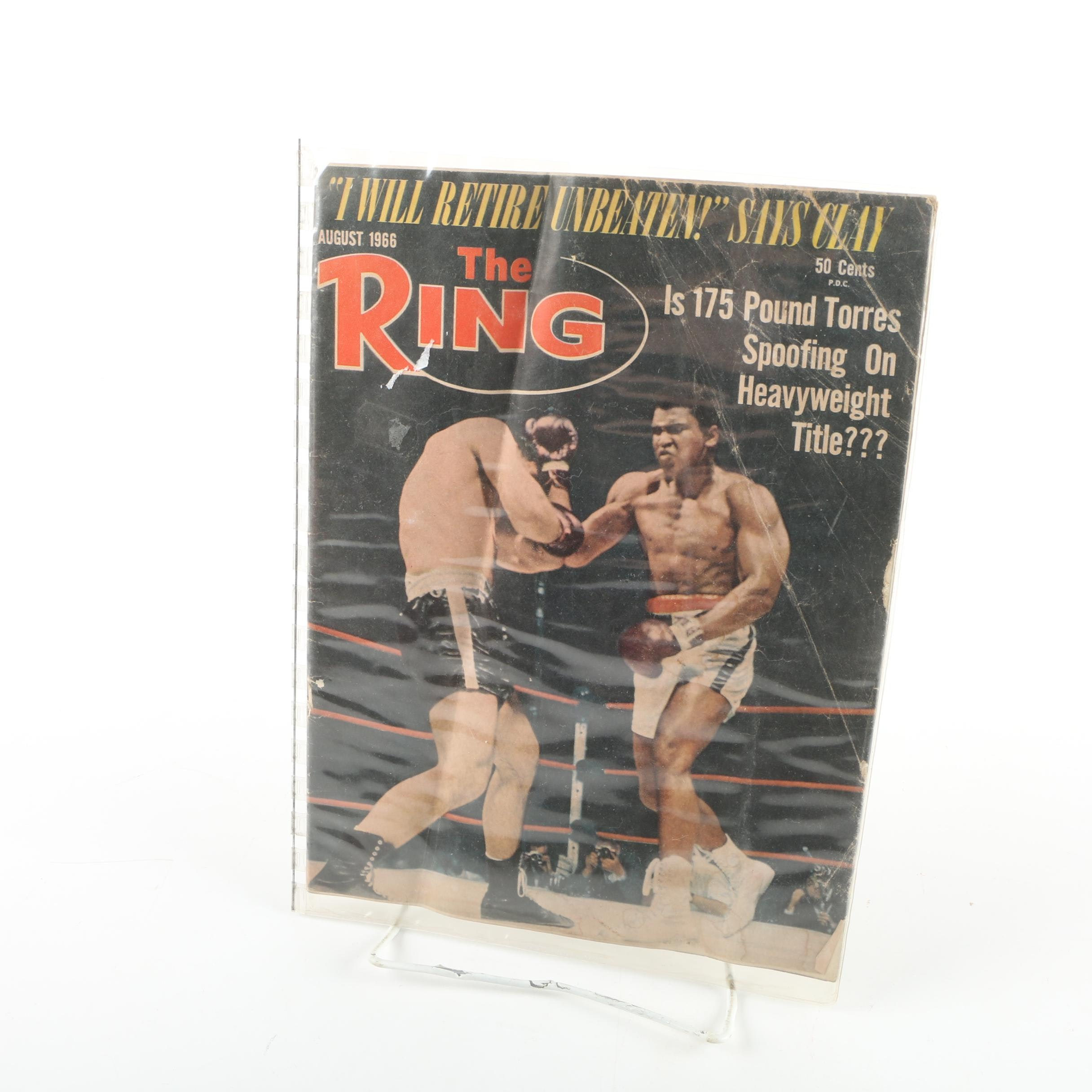 "1966 ""The Ring"" Boxing Magazine Issue"