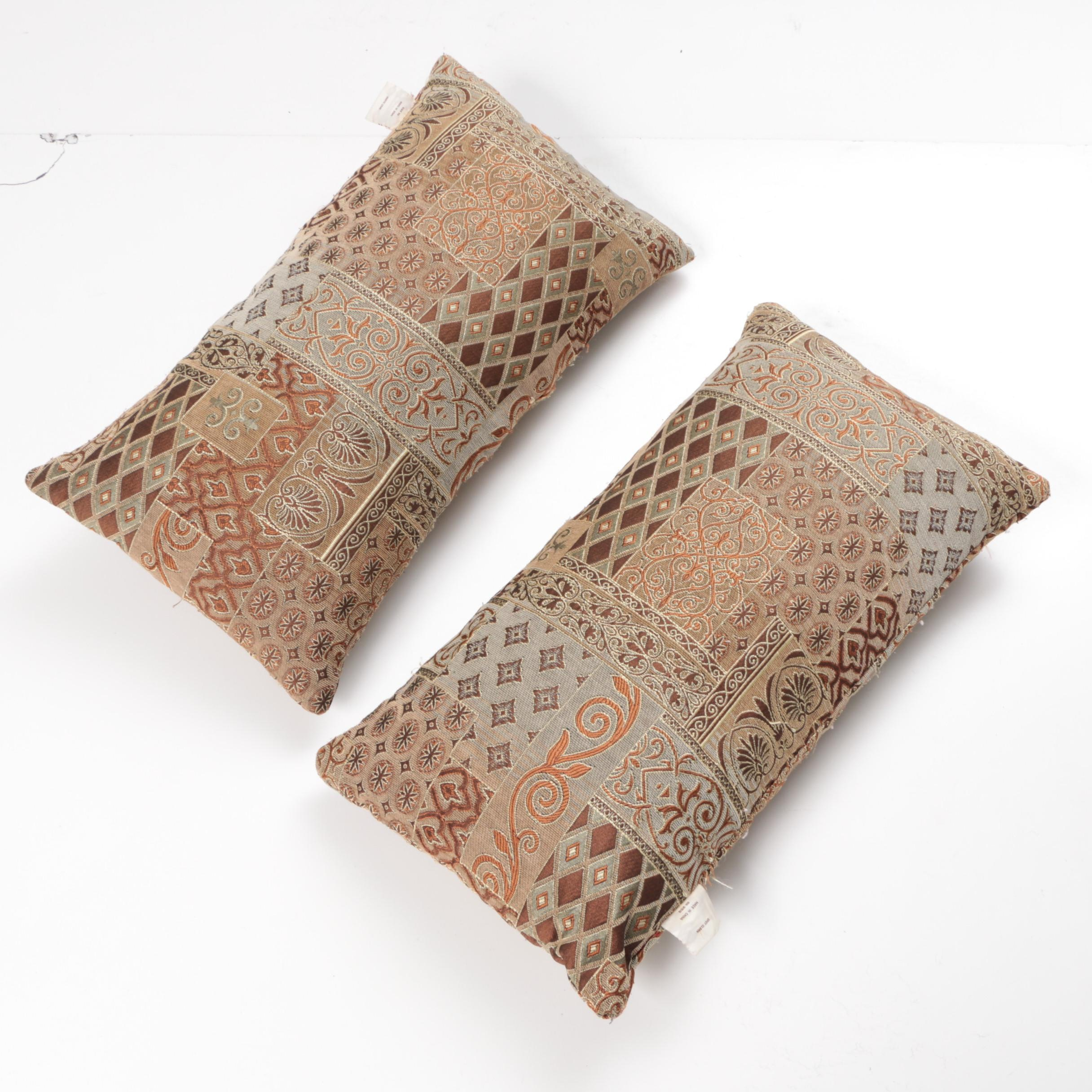 Two Decorative Throw Pillows