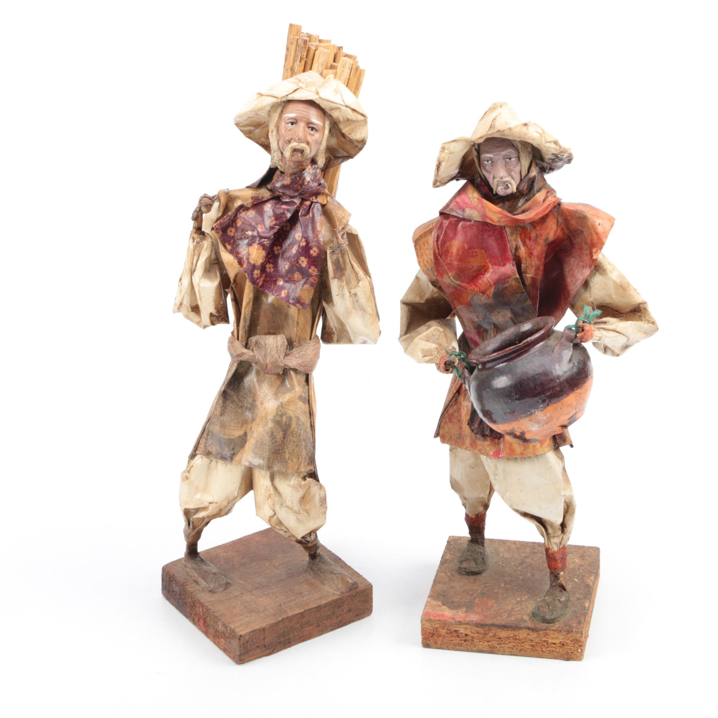 Pair of Wooden Figurines