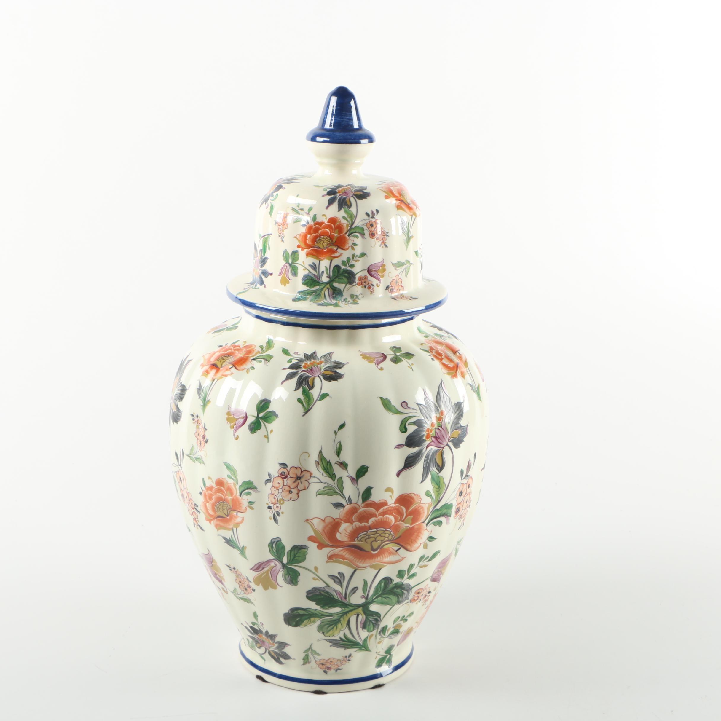 Handmade H. Bequet Cie Delft Urn