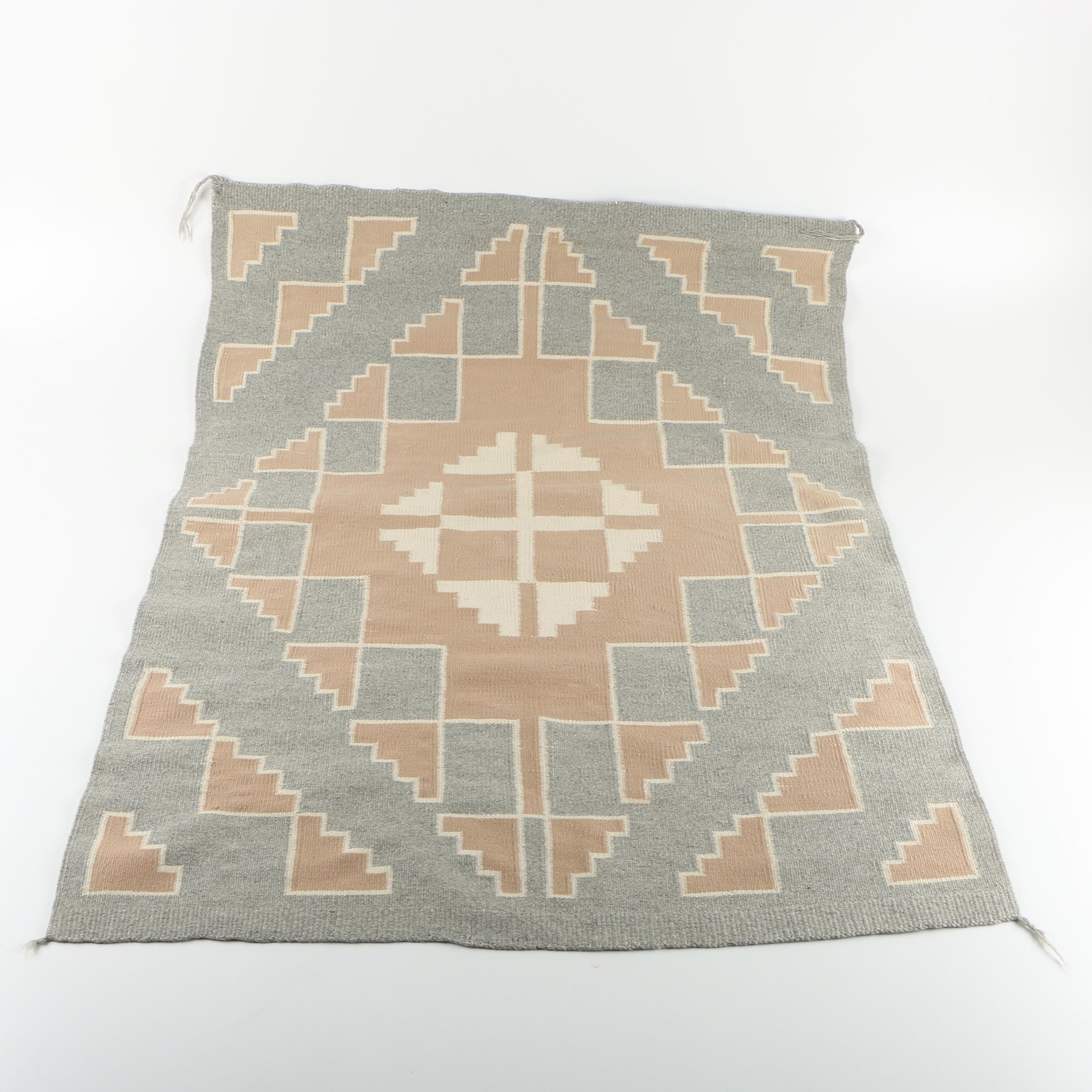 Handwoven Native American Style Flatweave Accent Rug