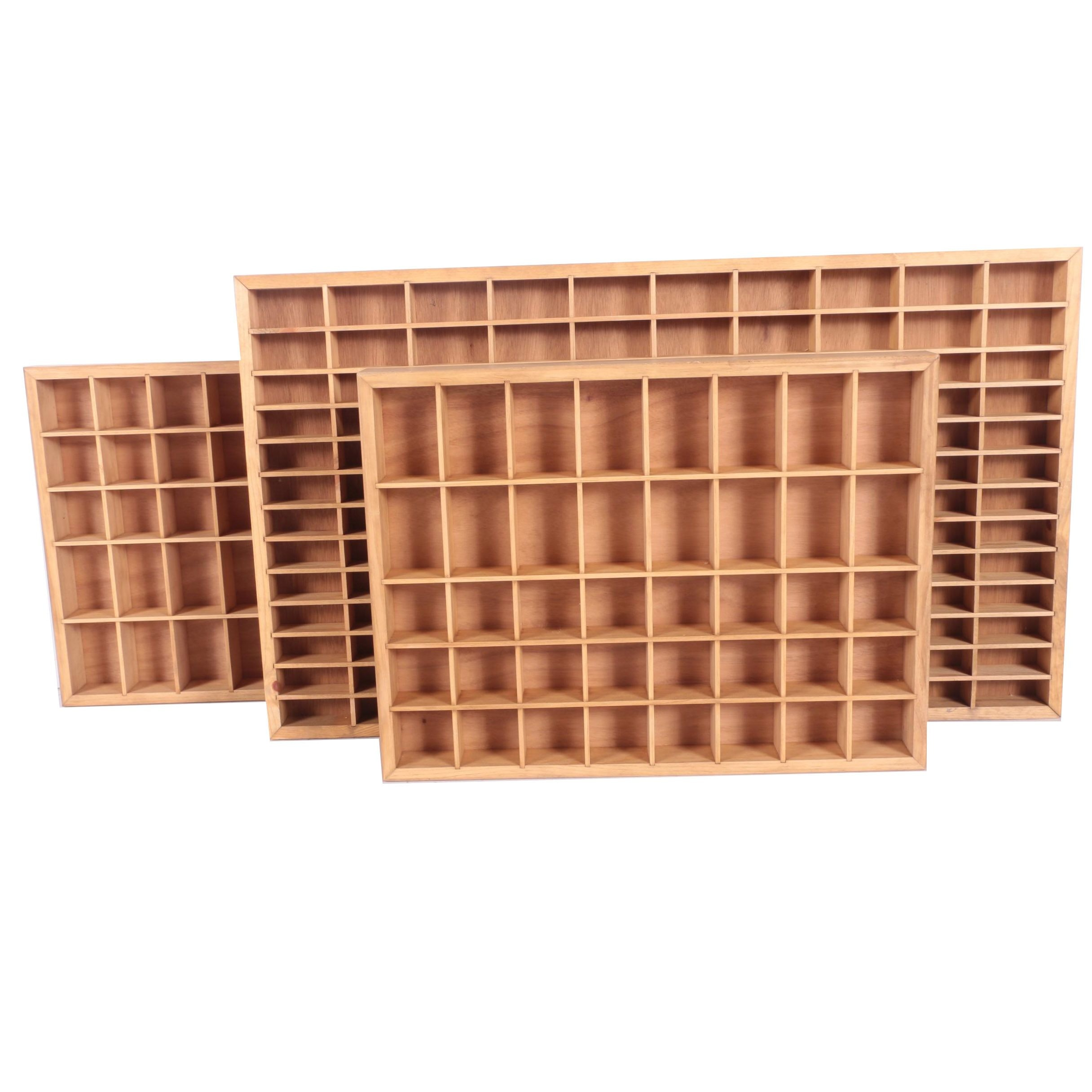 Wooden Printers Typeset Style Trays