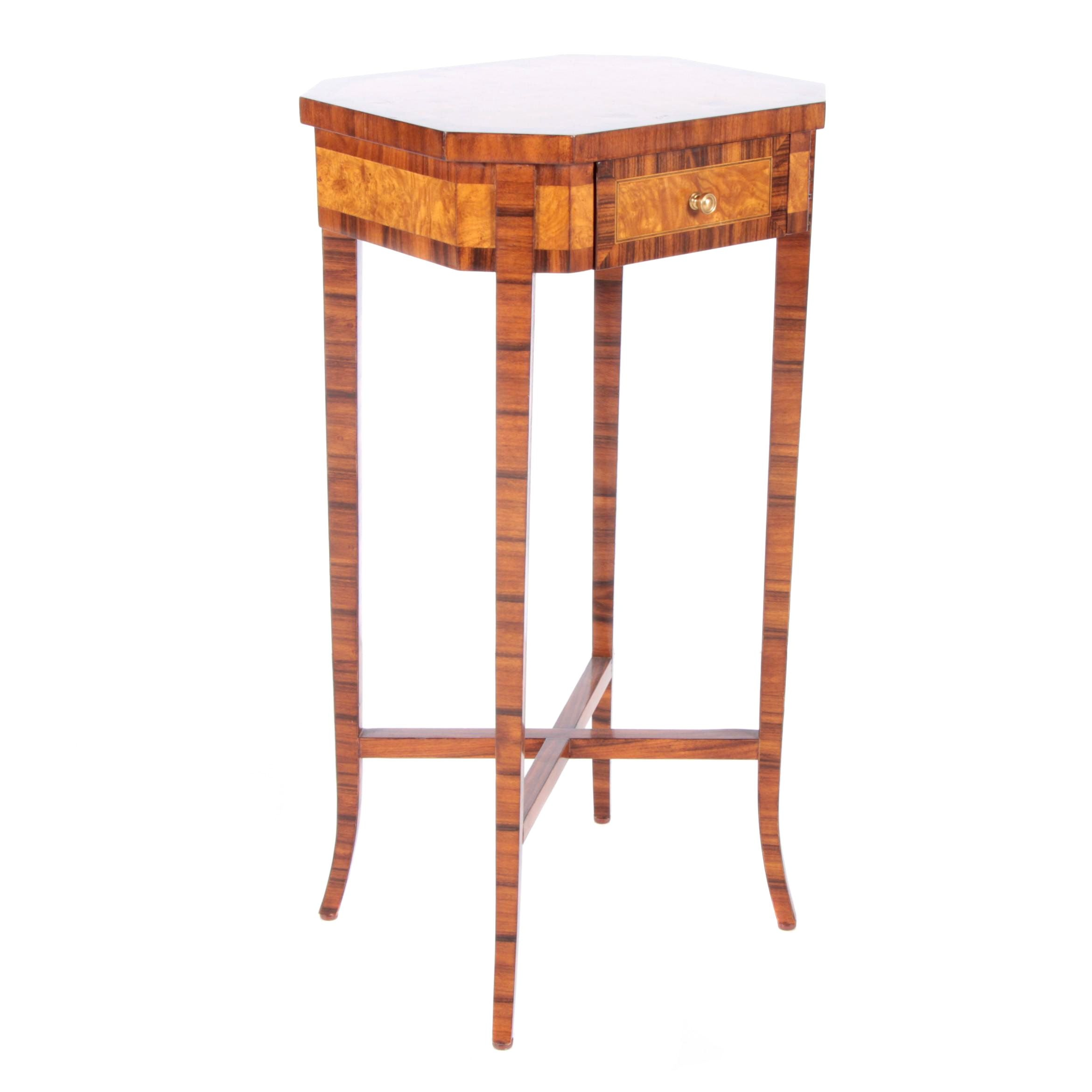 Mixed Wood Veneered Accent Table