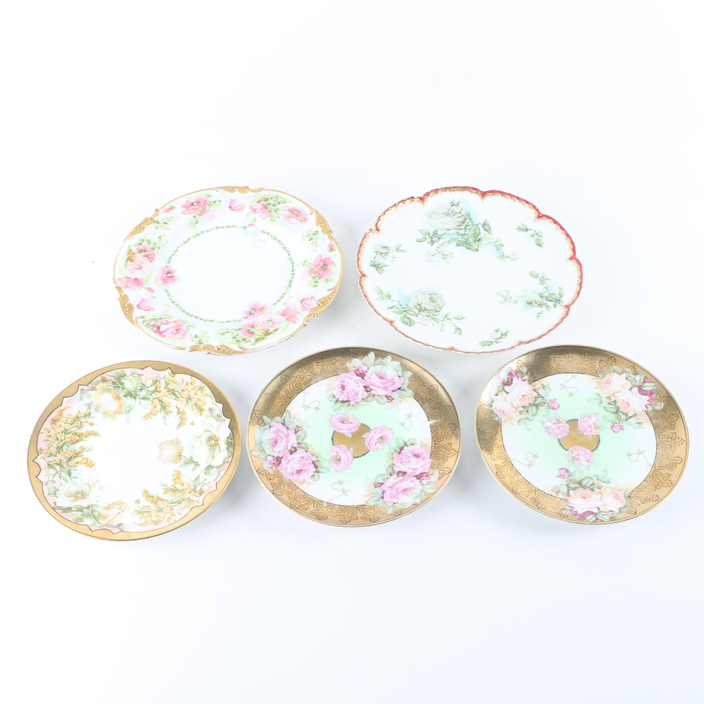 Collection of China Plates Including Limoges