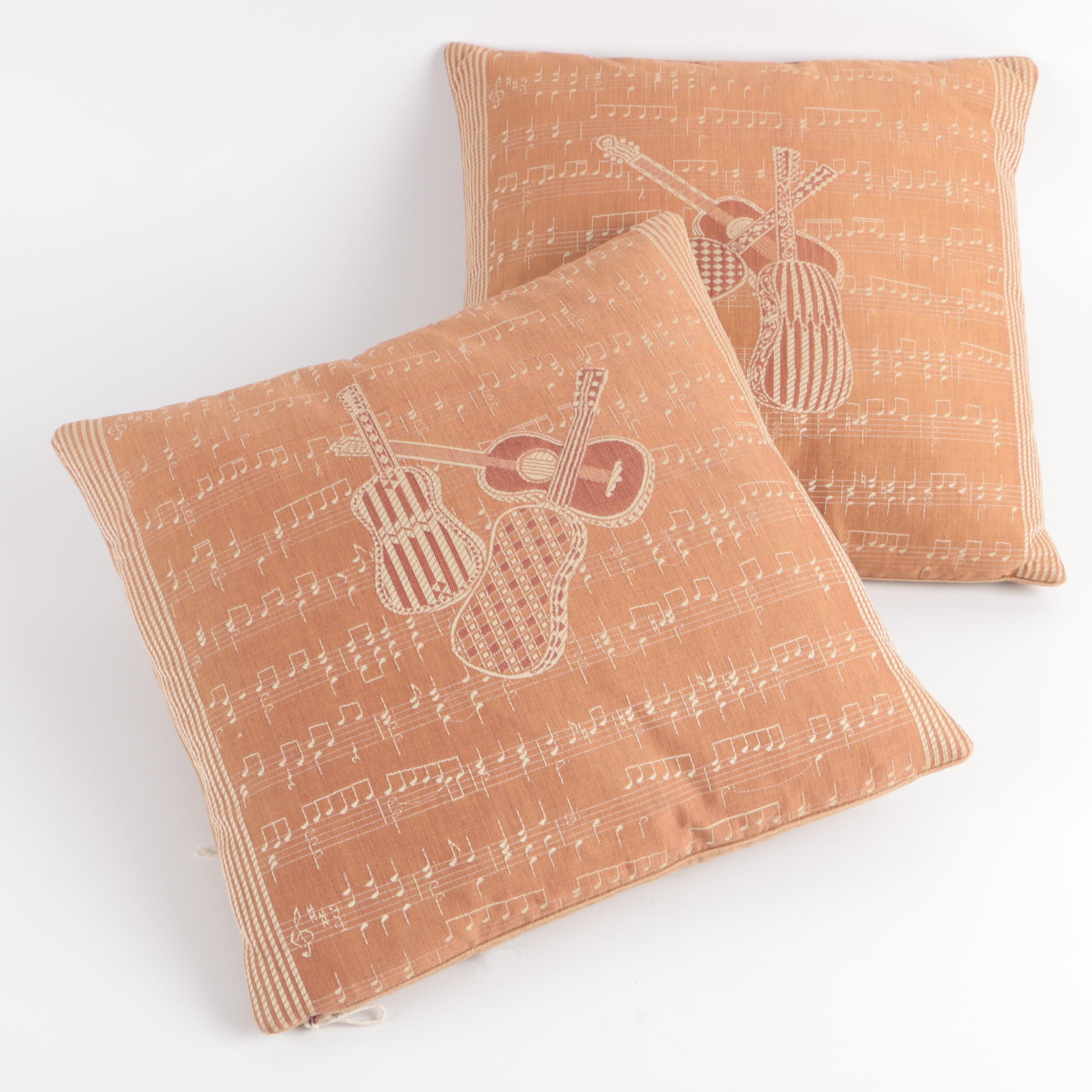 Musical Themed Throw Pillows
