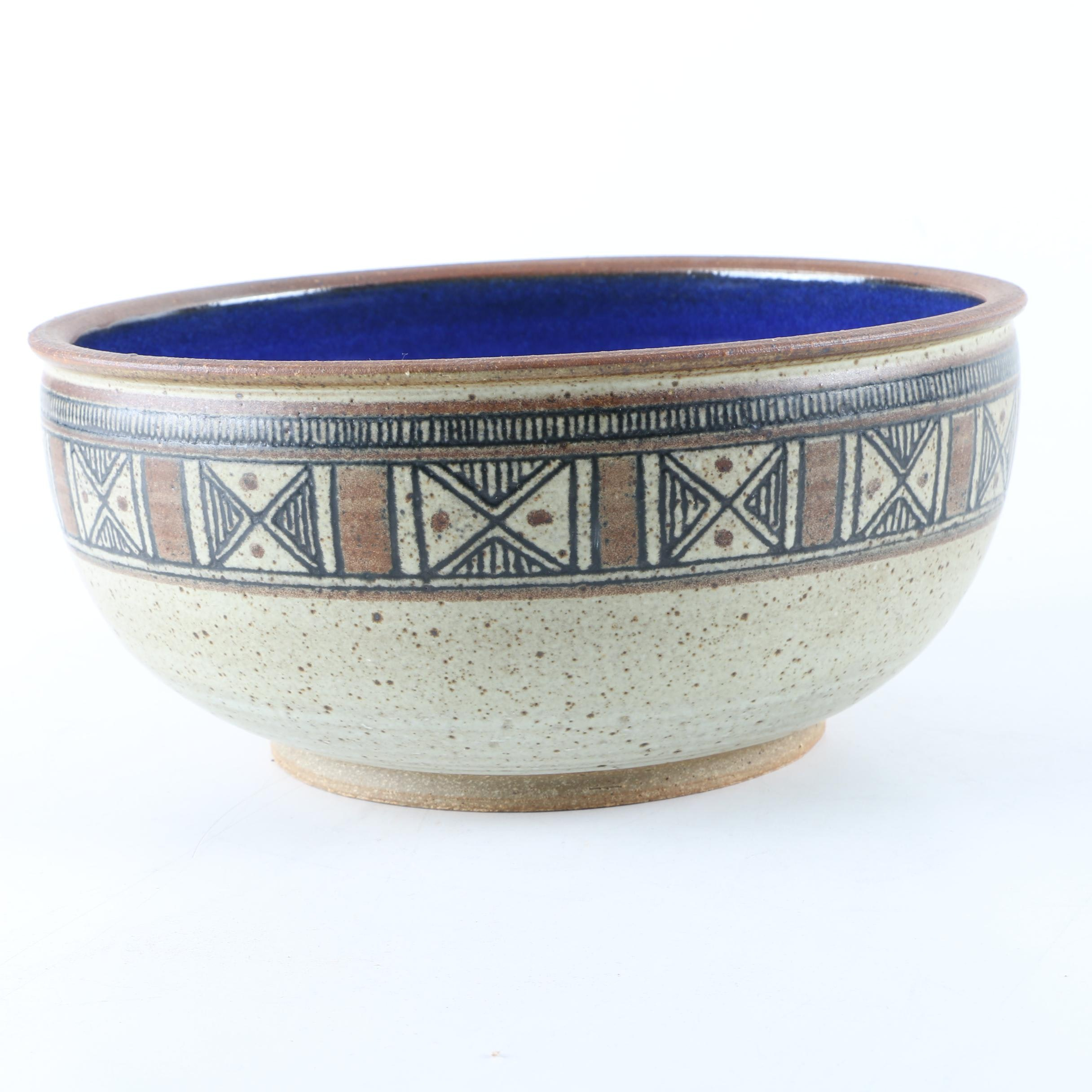 Hand Thrown Stoneware Centerpiece Bowl