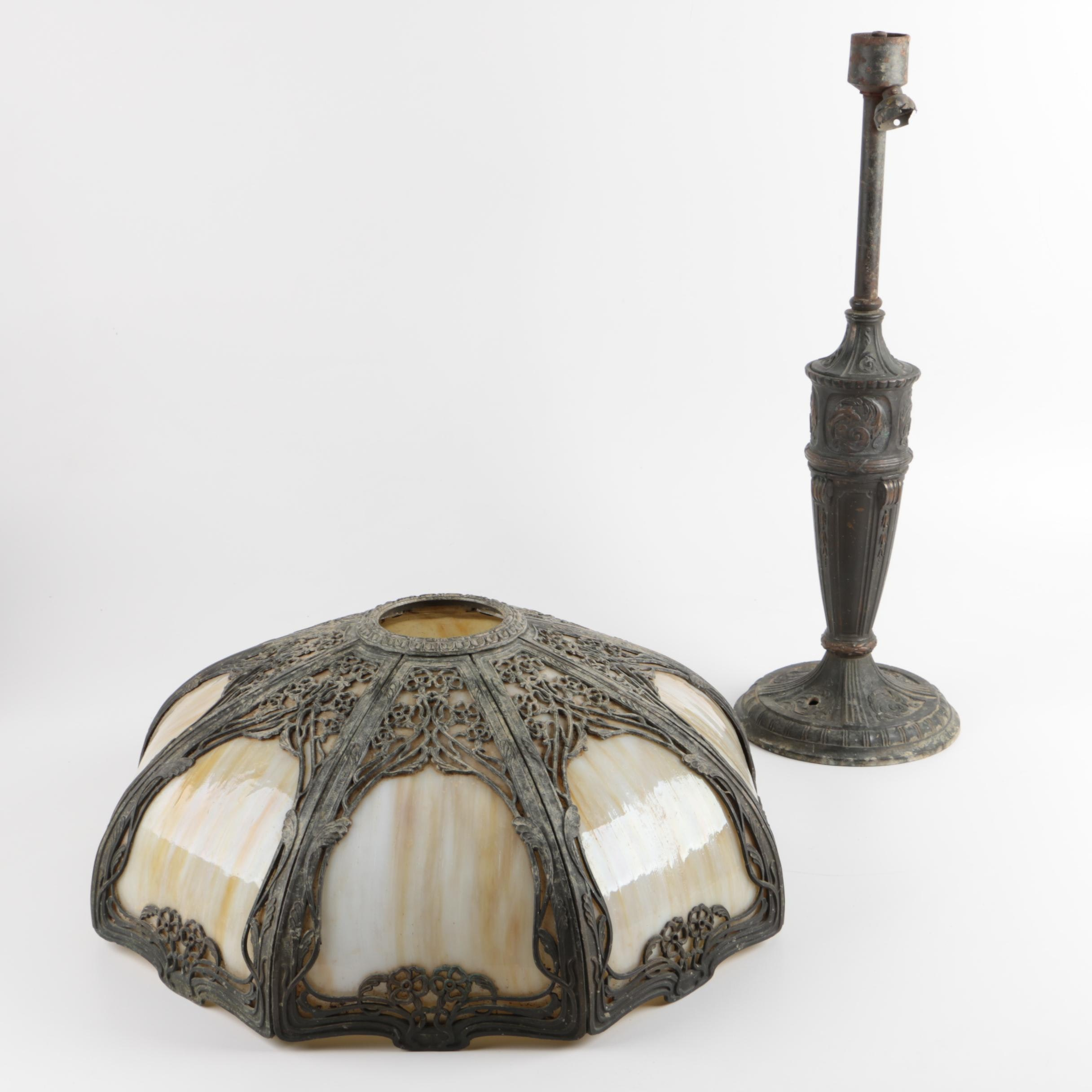 Art Nouveau Lamp with Shade
