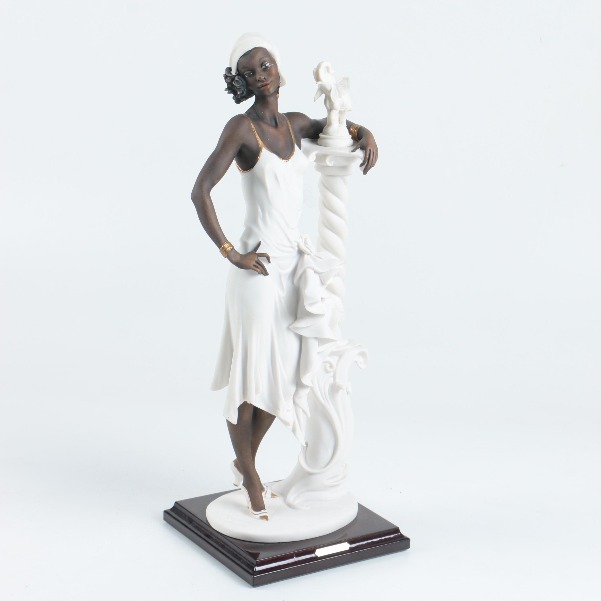 """Armani """"Mahogany"""" Flapper Porcelain Sculpture"""