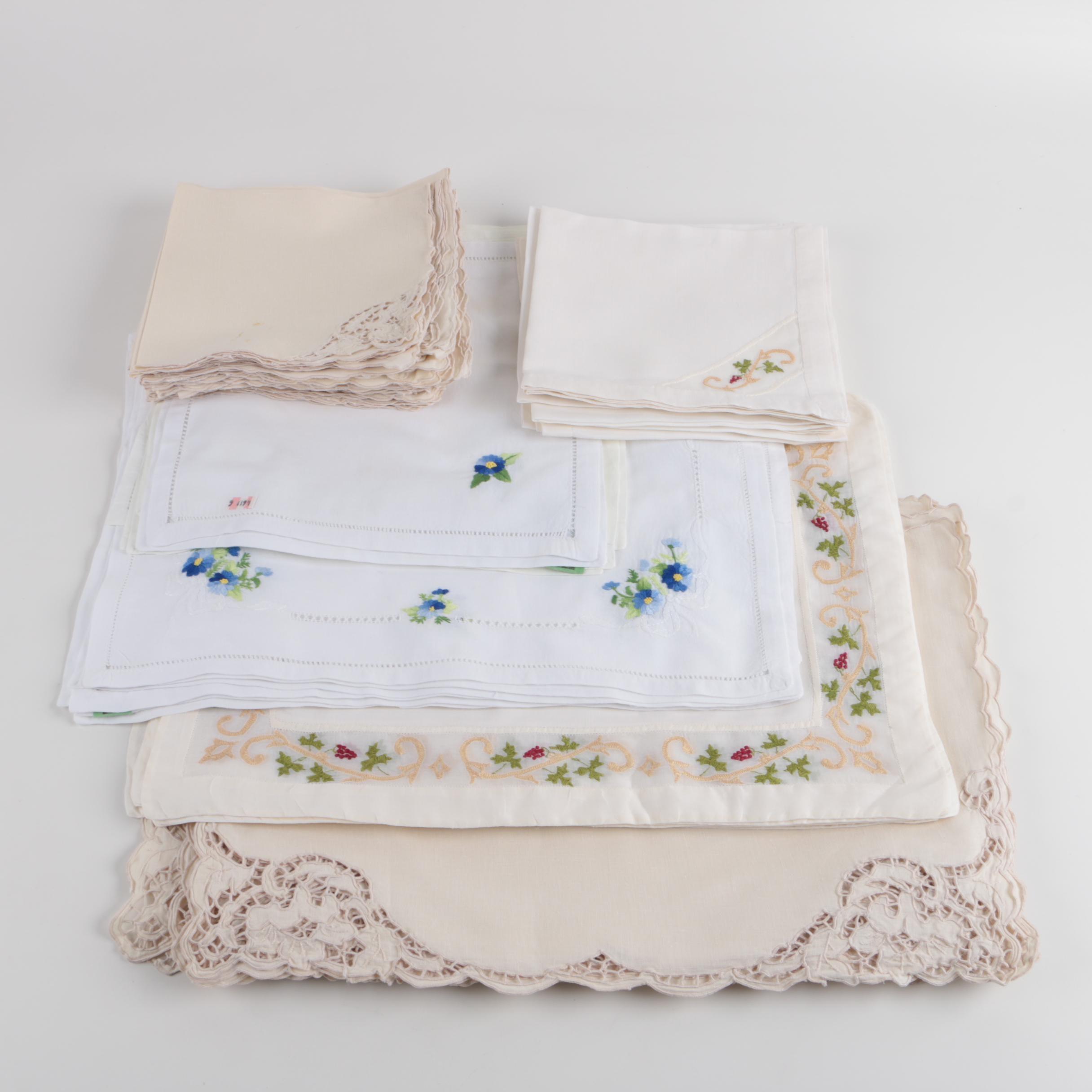 Fancy Linen Napkins Including Irish Linen