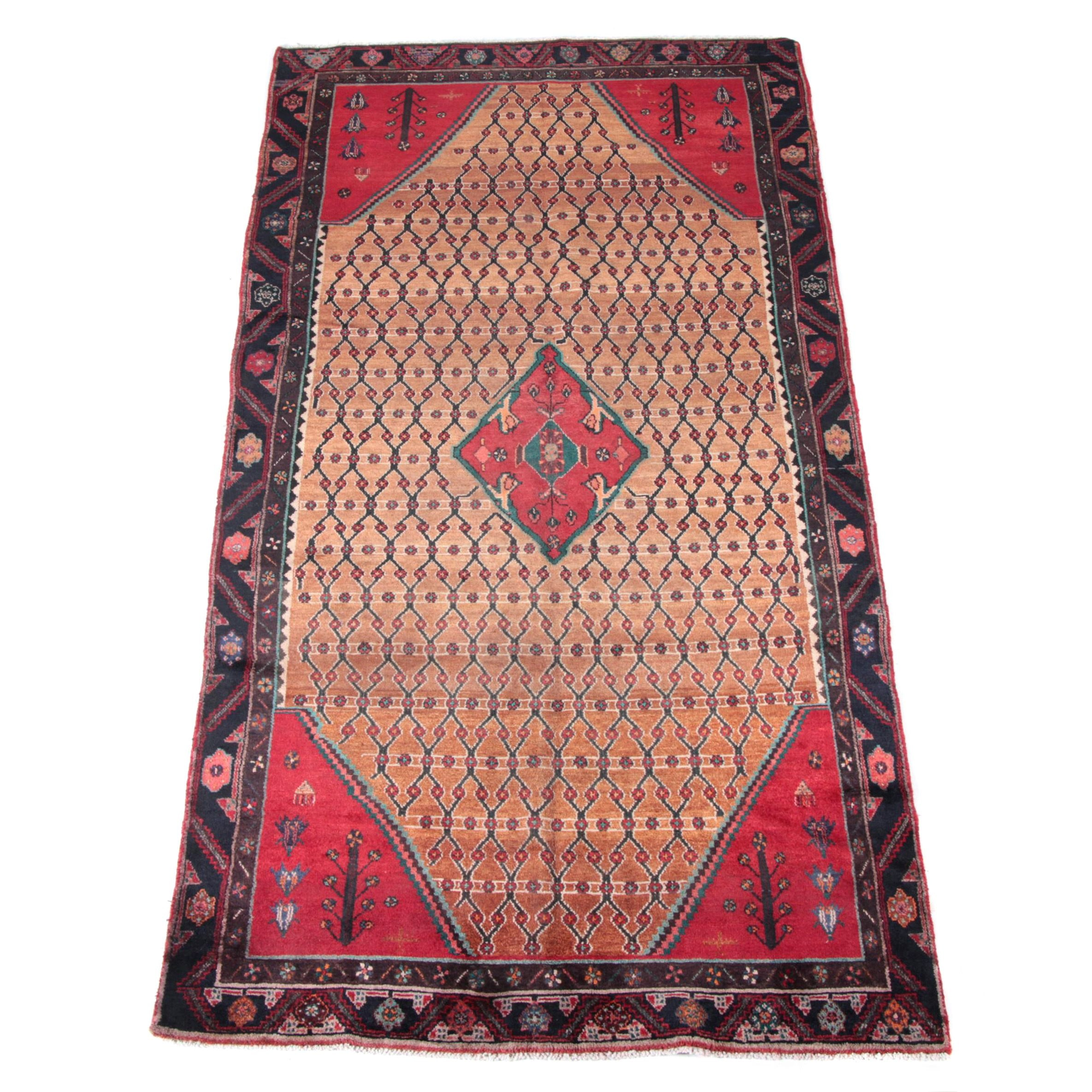 Hand-Knotted Persian Area Rug