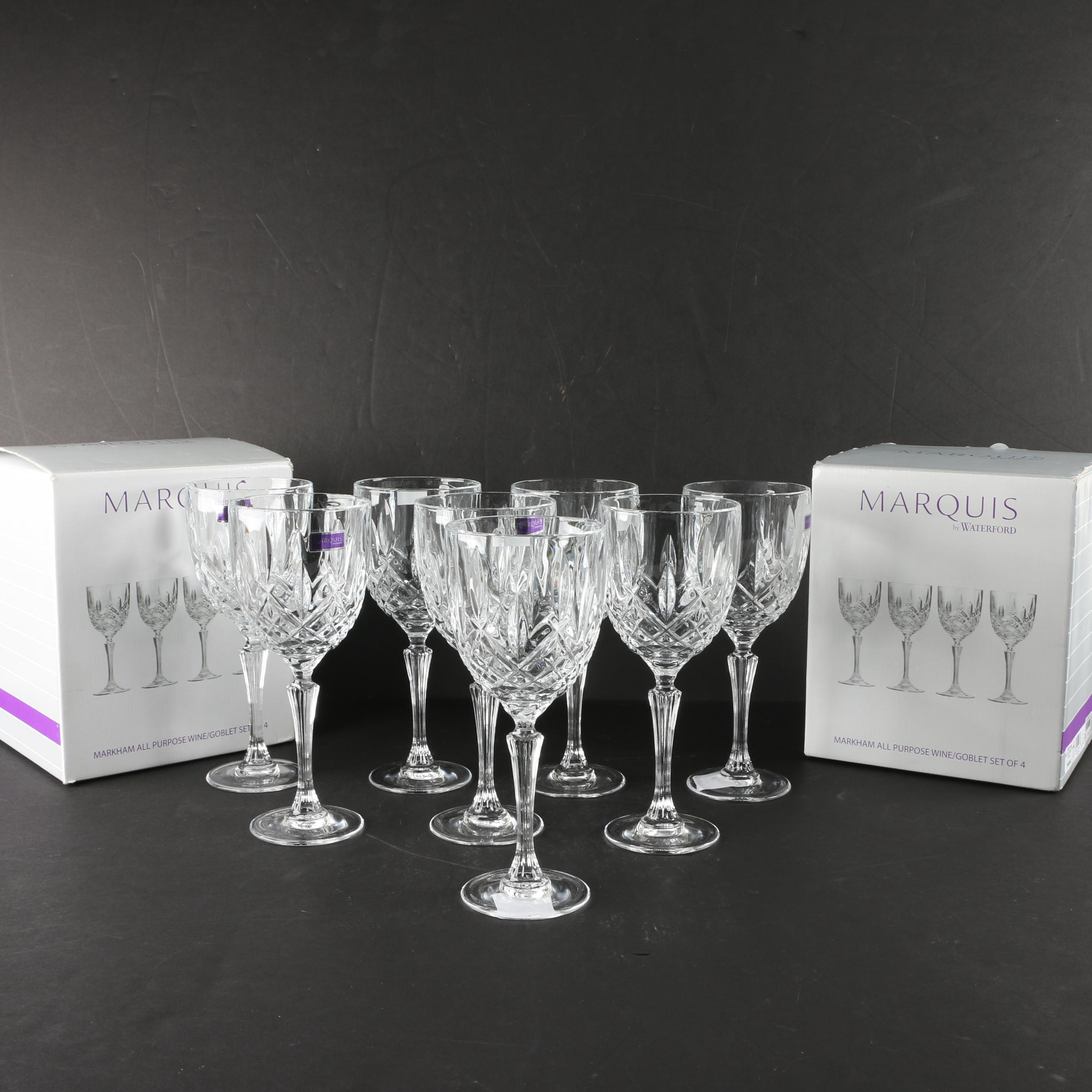 "Marquis by Waterford ""Markham"" Crystal Wine Goblets"