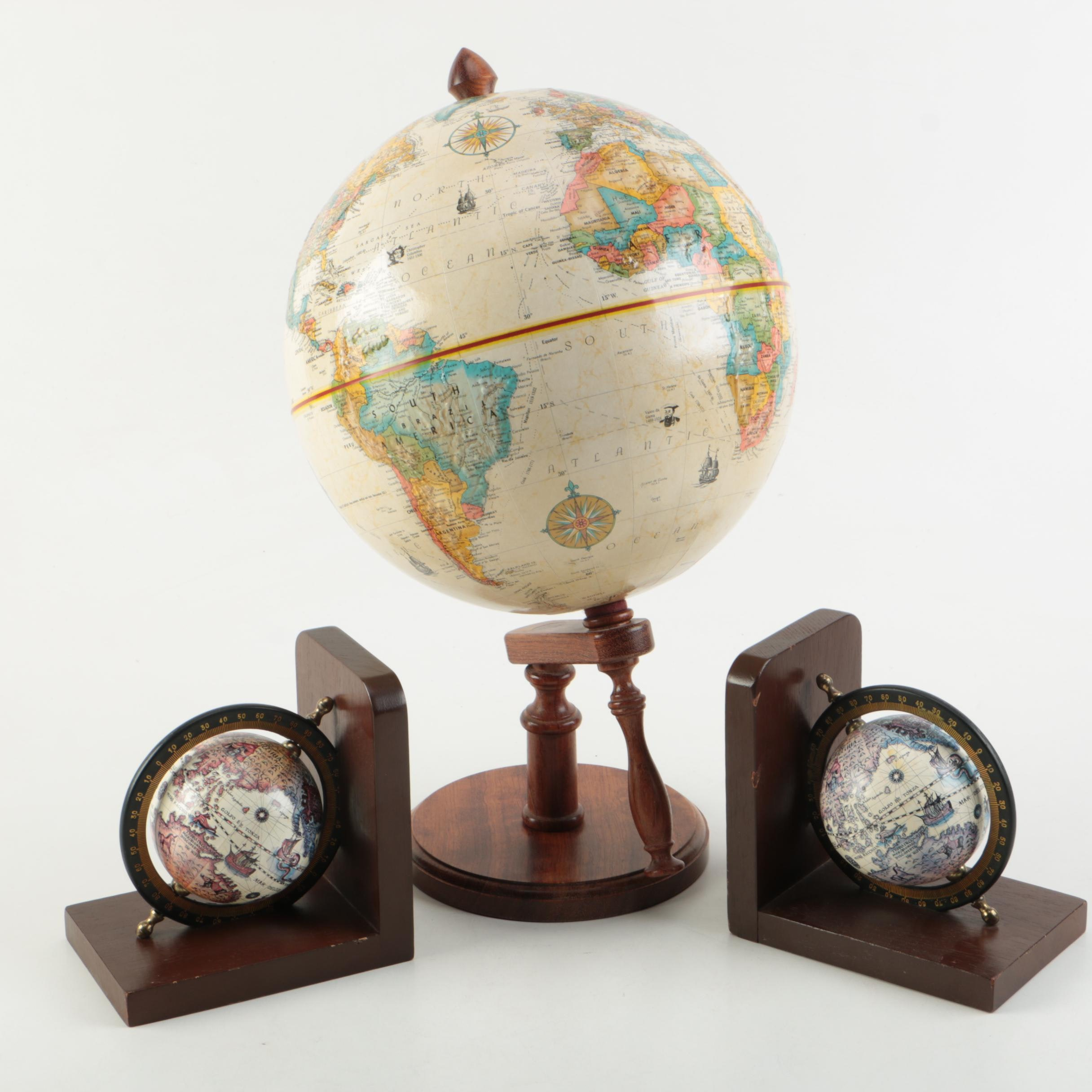 """Replogle """"World Class Series"""" Globe and Bookends"""