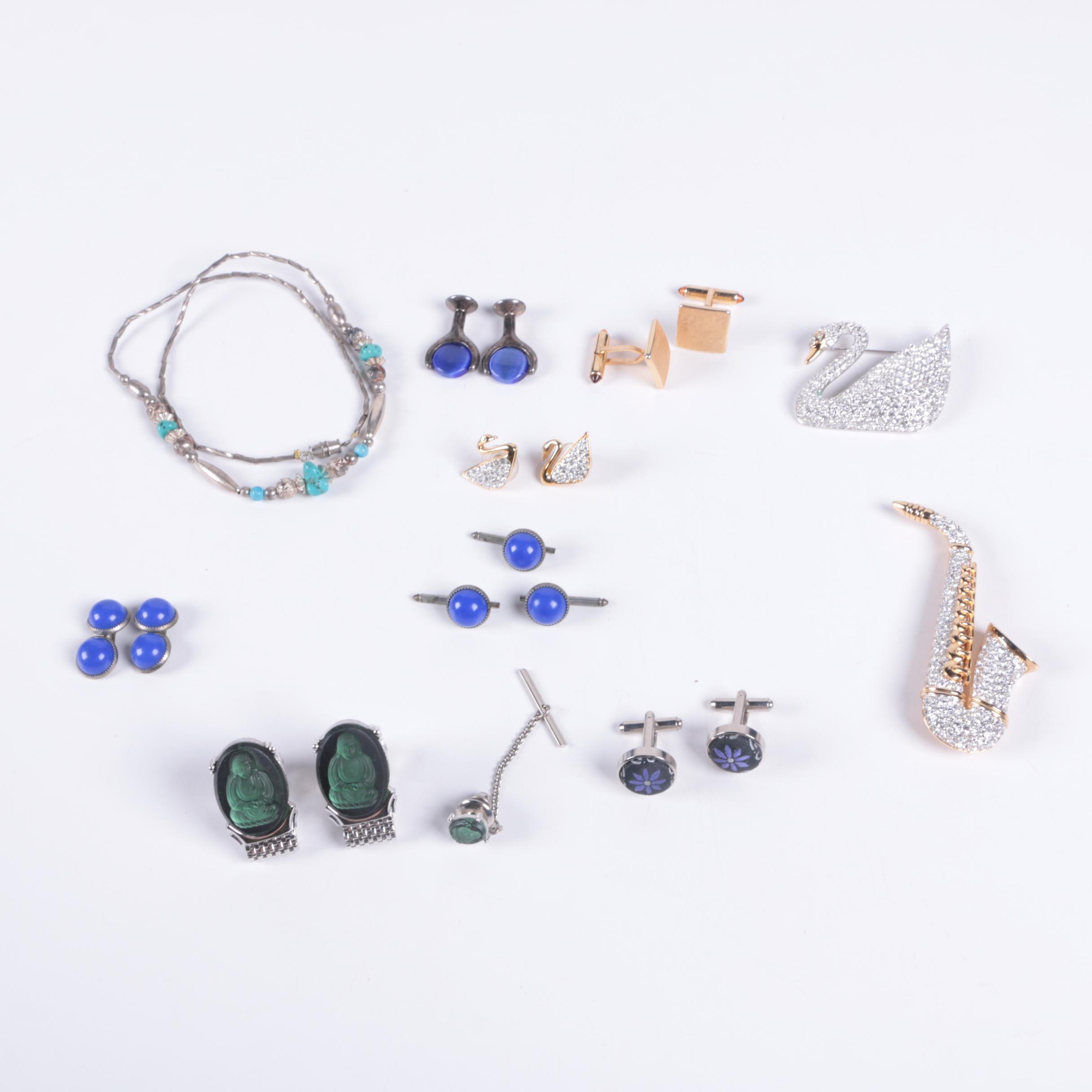 Assortment of Costume Jewelry Including Swarovski and Krementz