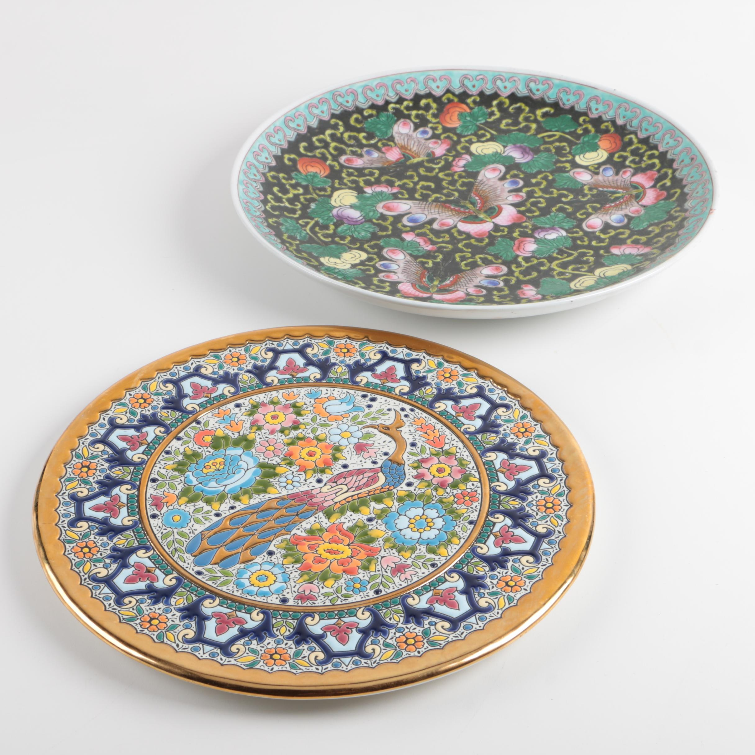 Cearco Spanish and Chinese Decorative Plates