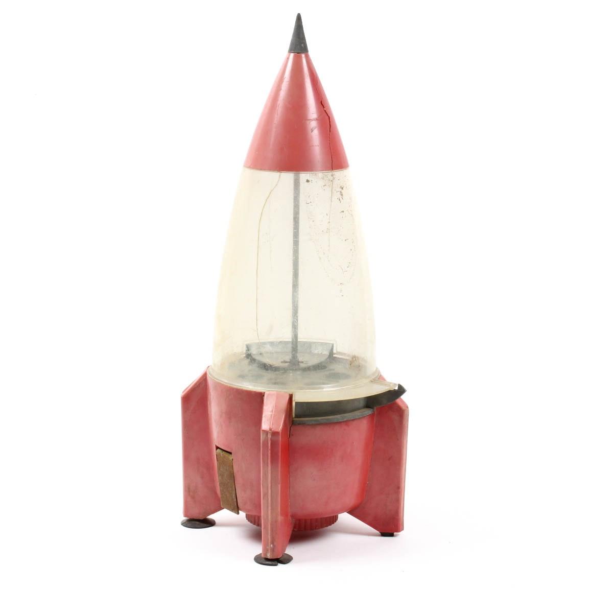 Vintage Rocket Ship Gumball Machine