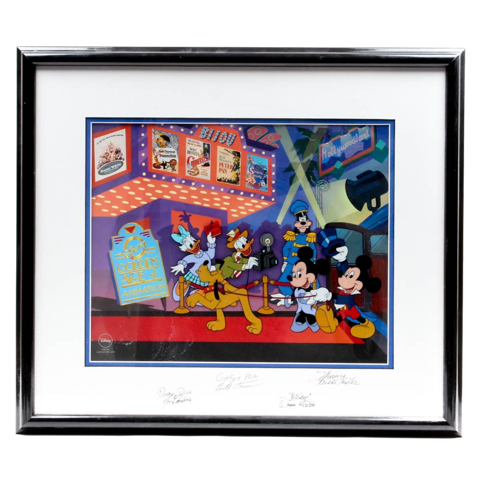 "Limited Edition Walt Disney Sericel ""Mickey's Film Festival"" Signed"