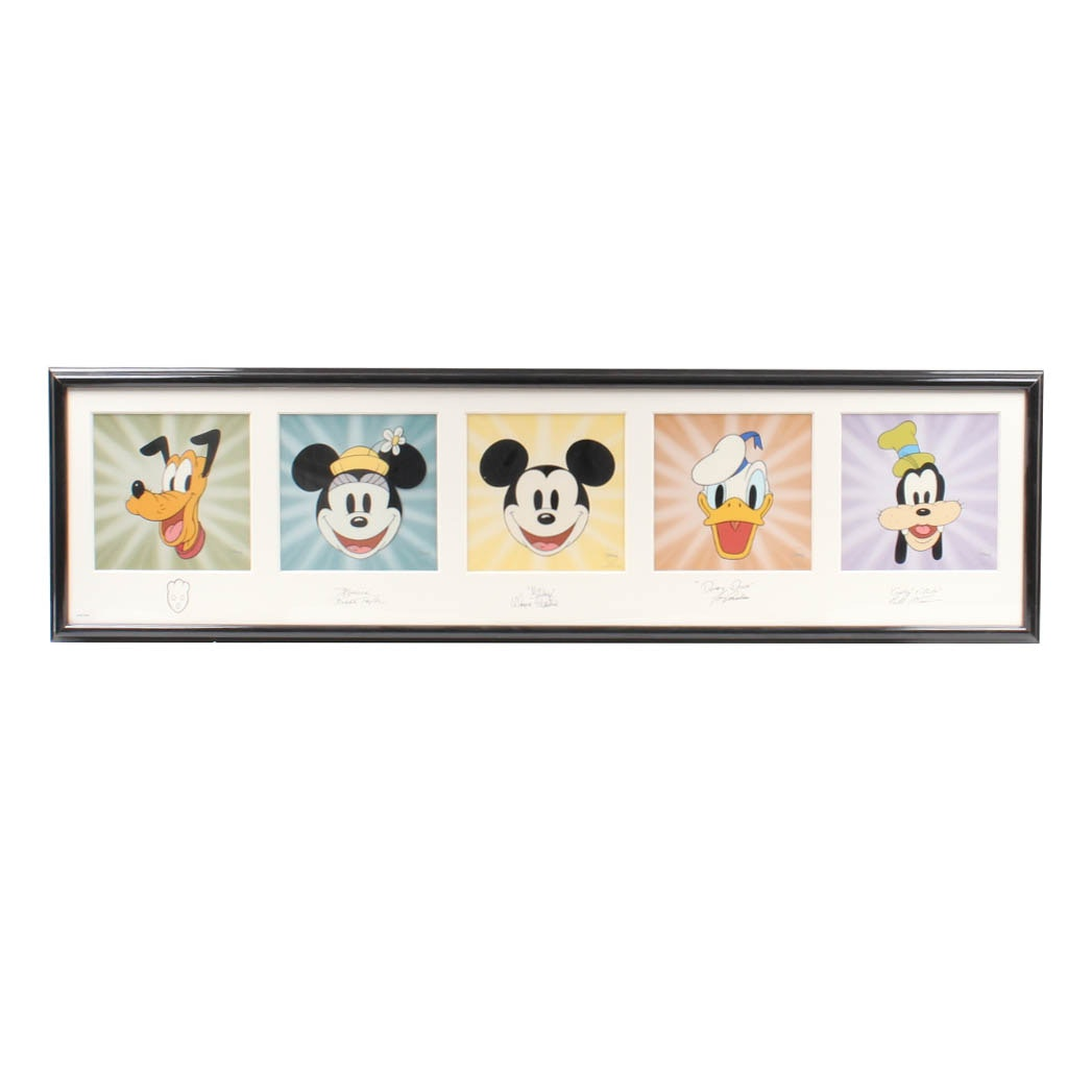Autographed Limited Edition Sericel of Disney Characters