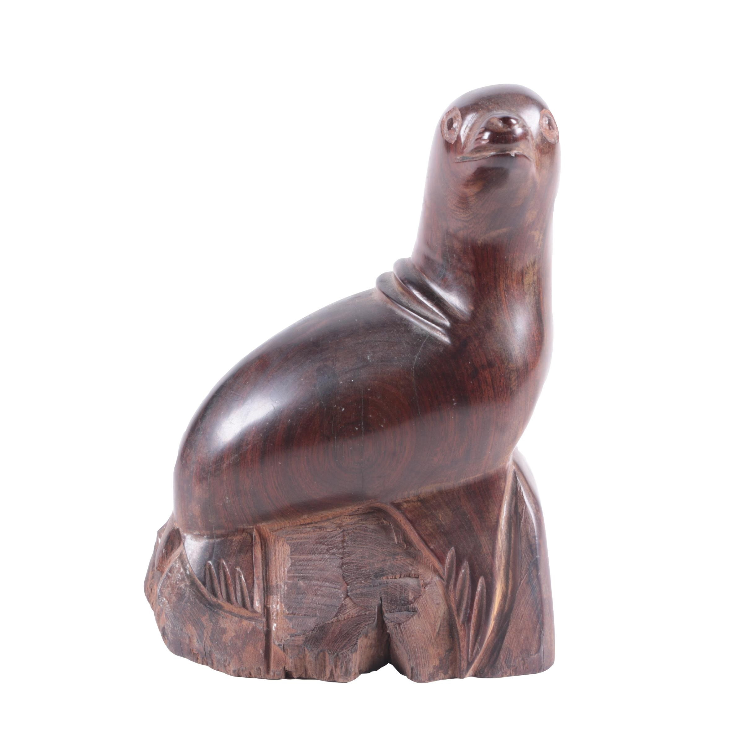 Decorative Carved Wooden Seal
