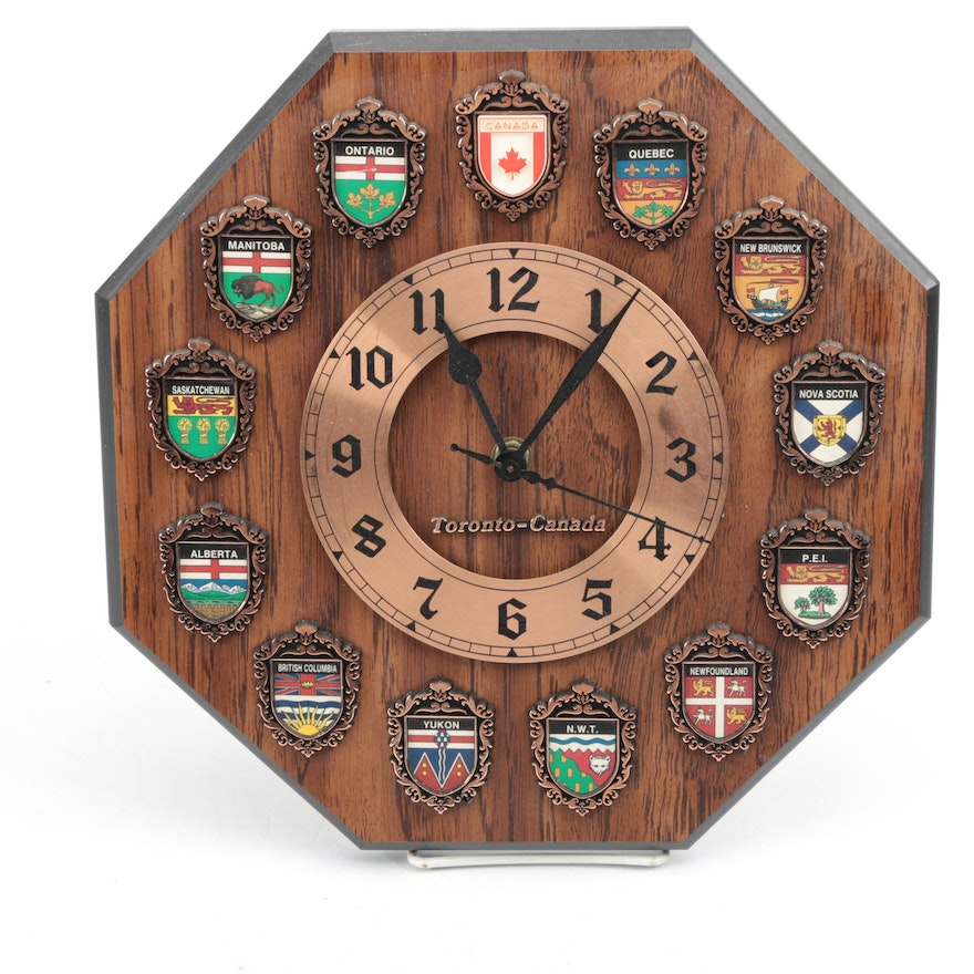 Af Canadian Provinces And Territories Wall Clock Ebth