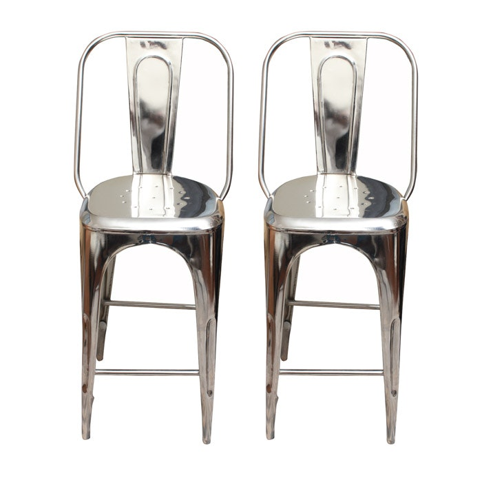 """Remy"" Metal Bar Stools by Restoration Hardware"