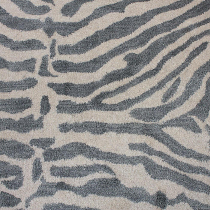 Tufted Zebra Stripe Area Rug
