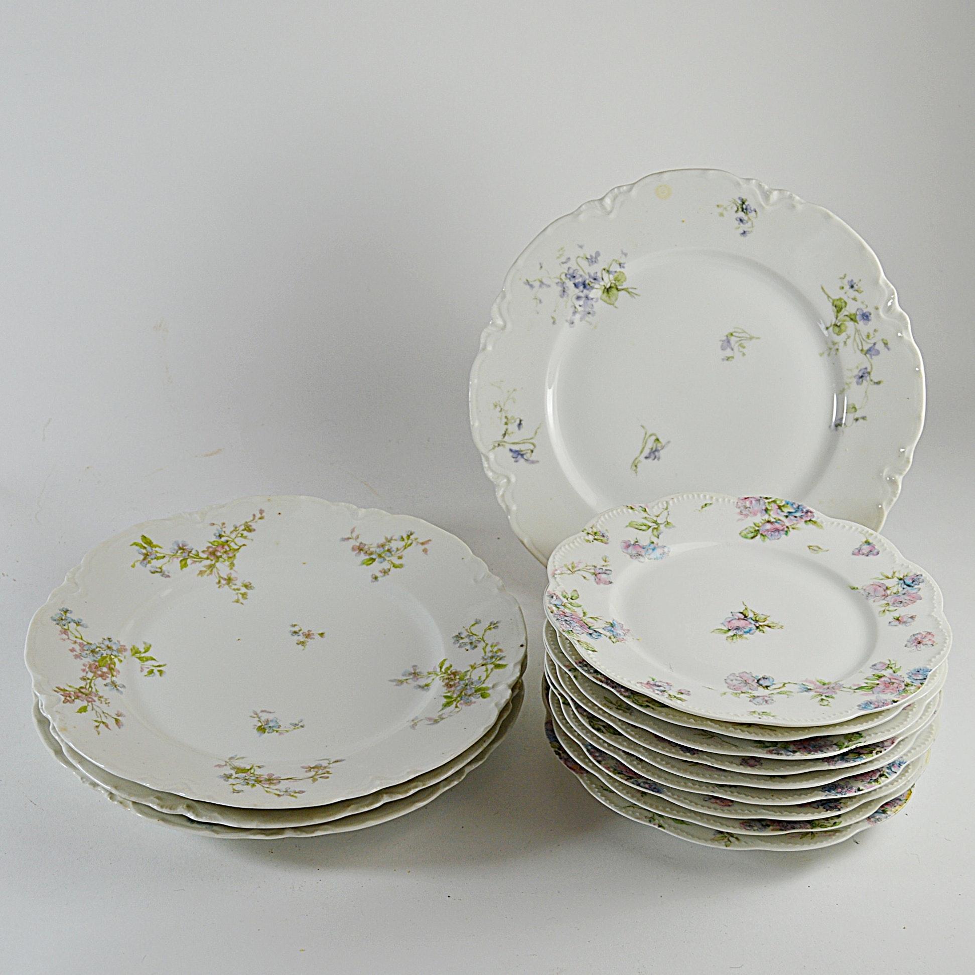 Antique French Haviland Limoges Plates ... & Antique French Haviland Limoges Plates : EBTH