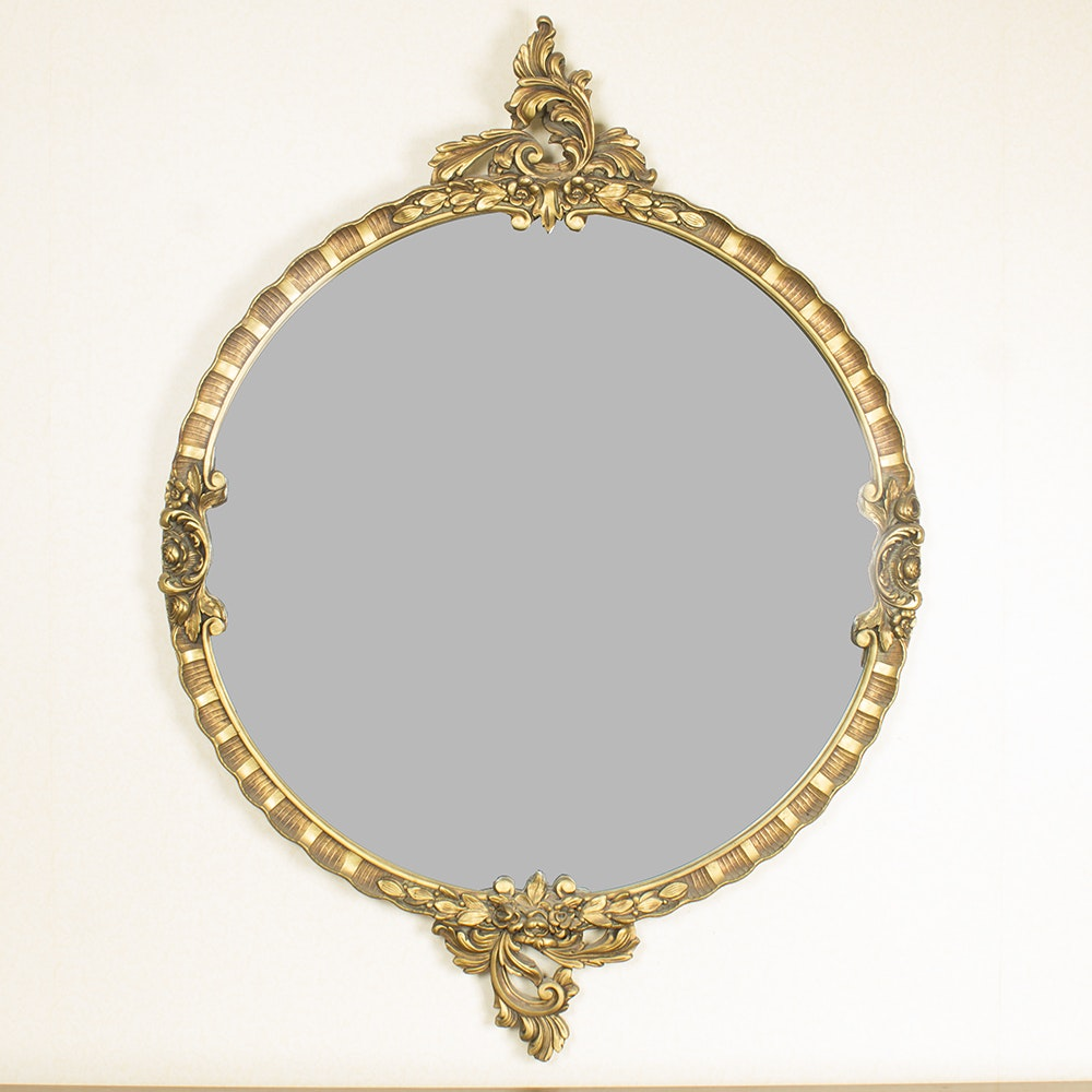 Vintage Gold Gilt Wall Mirror