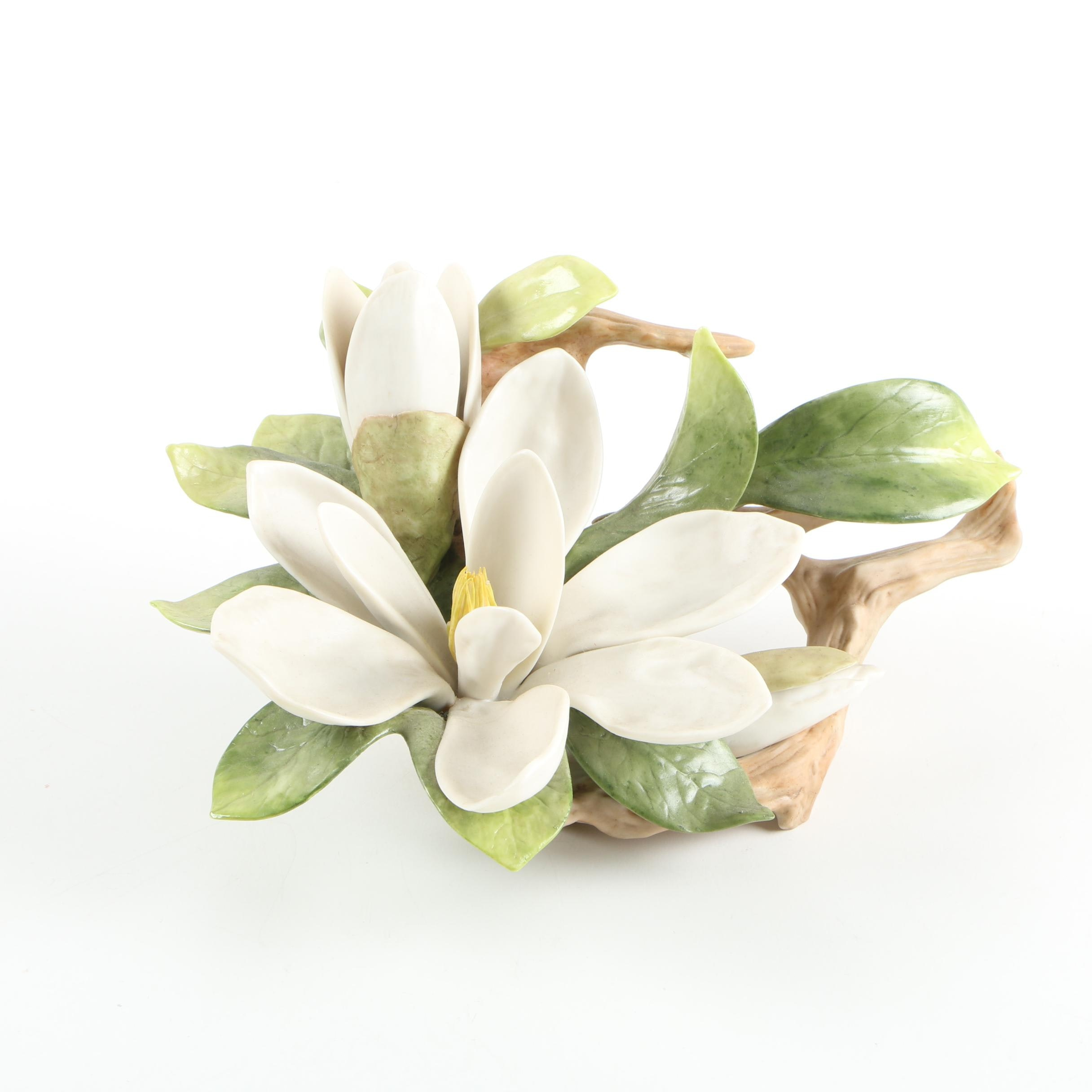 White Lilly Porcelain Figurine