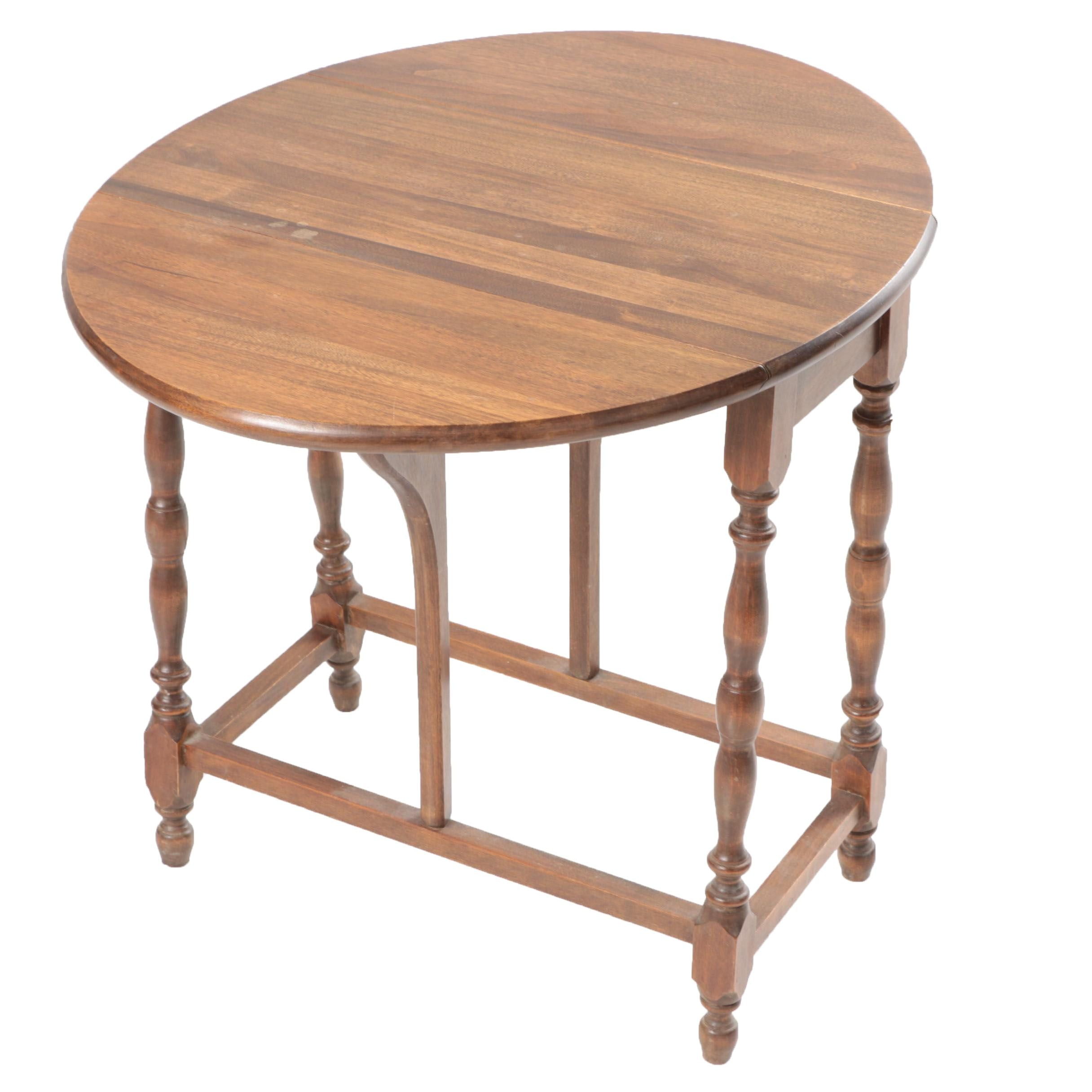 Gum Drop-leaf Table With Butterfly Supports