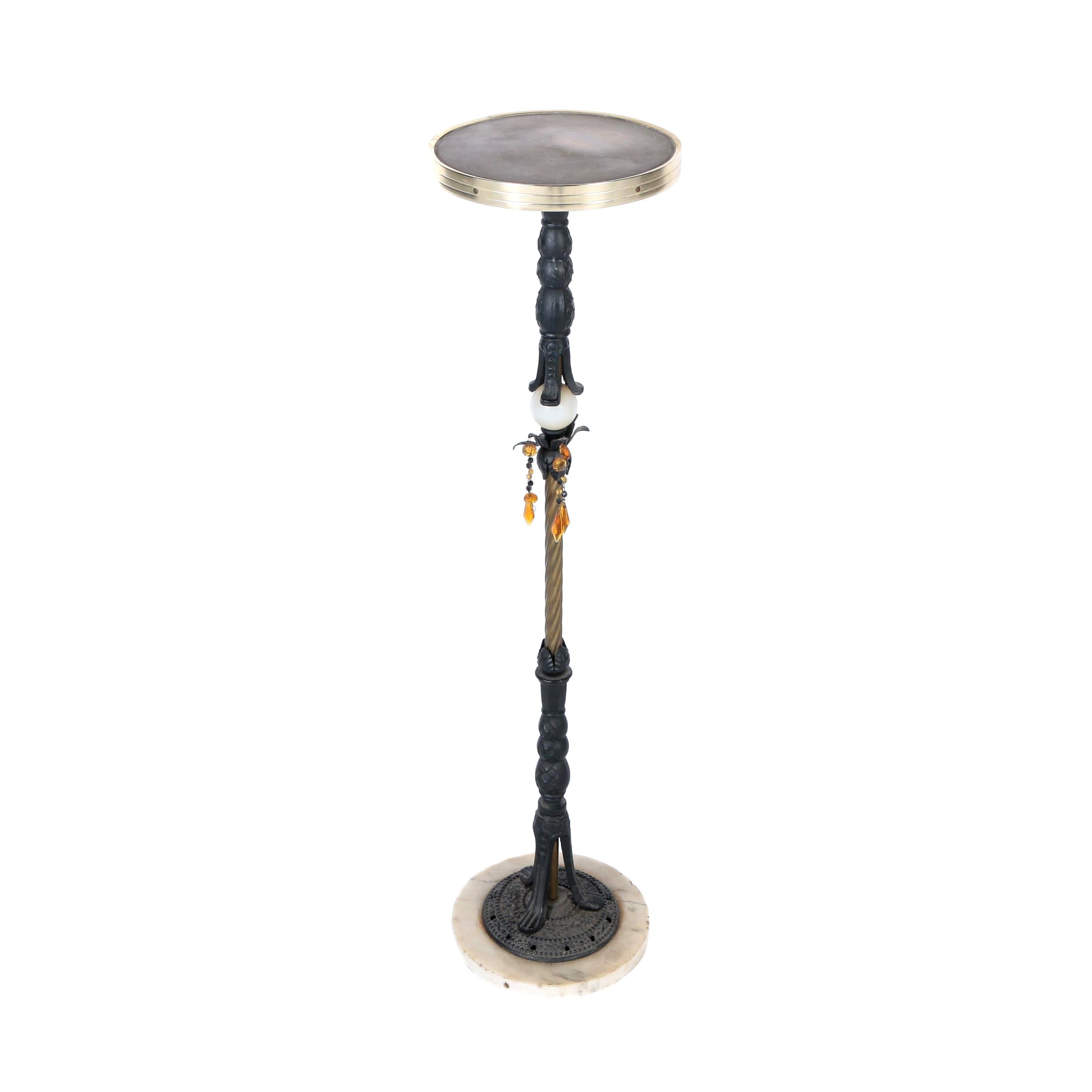 Re-Purposed Cast Iron Floor Lamp / Stand
