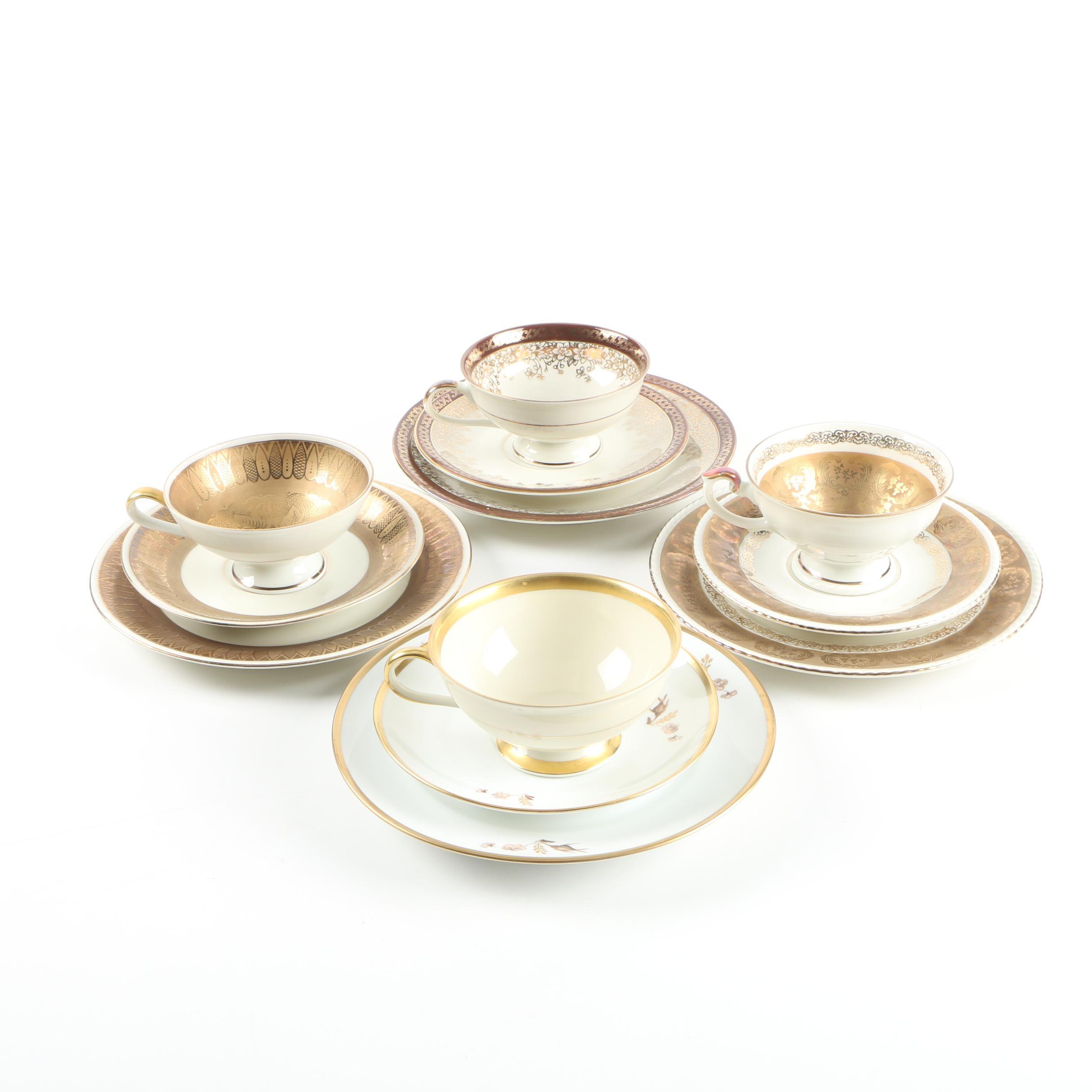 """Porcelain Tableware including Royal Copenhagen """"Brown Rose"""""""