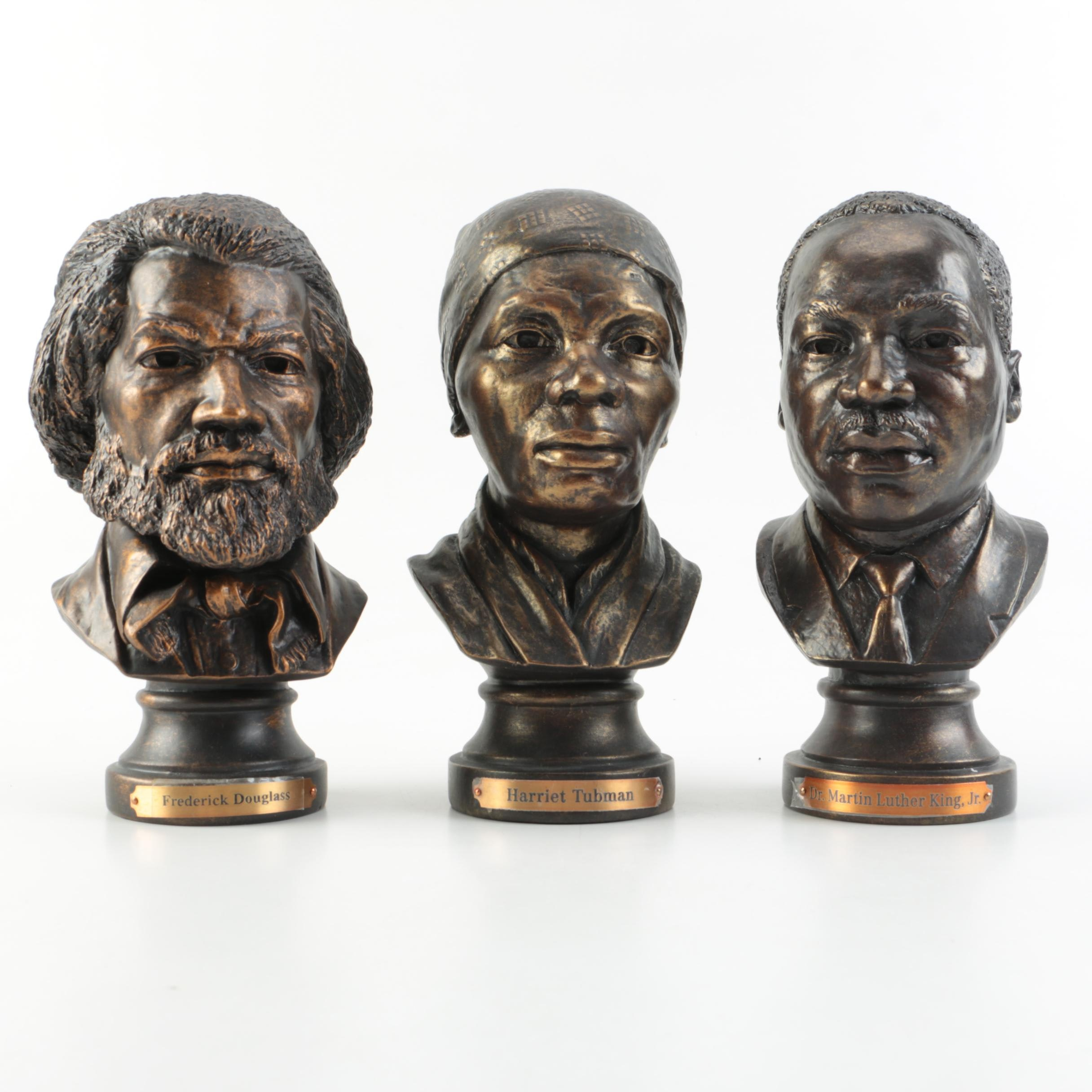 Metal Busts of Douglass, Tubman, and King by the Danbury Mint