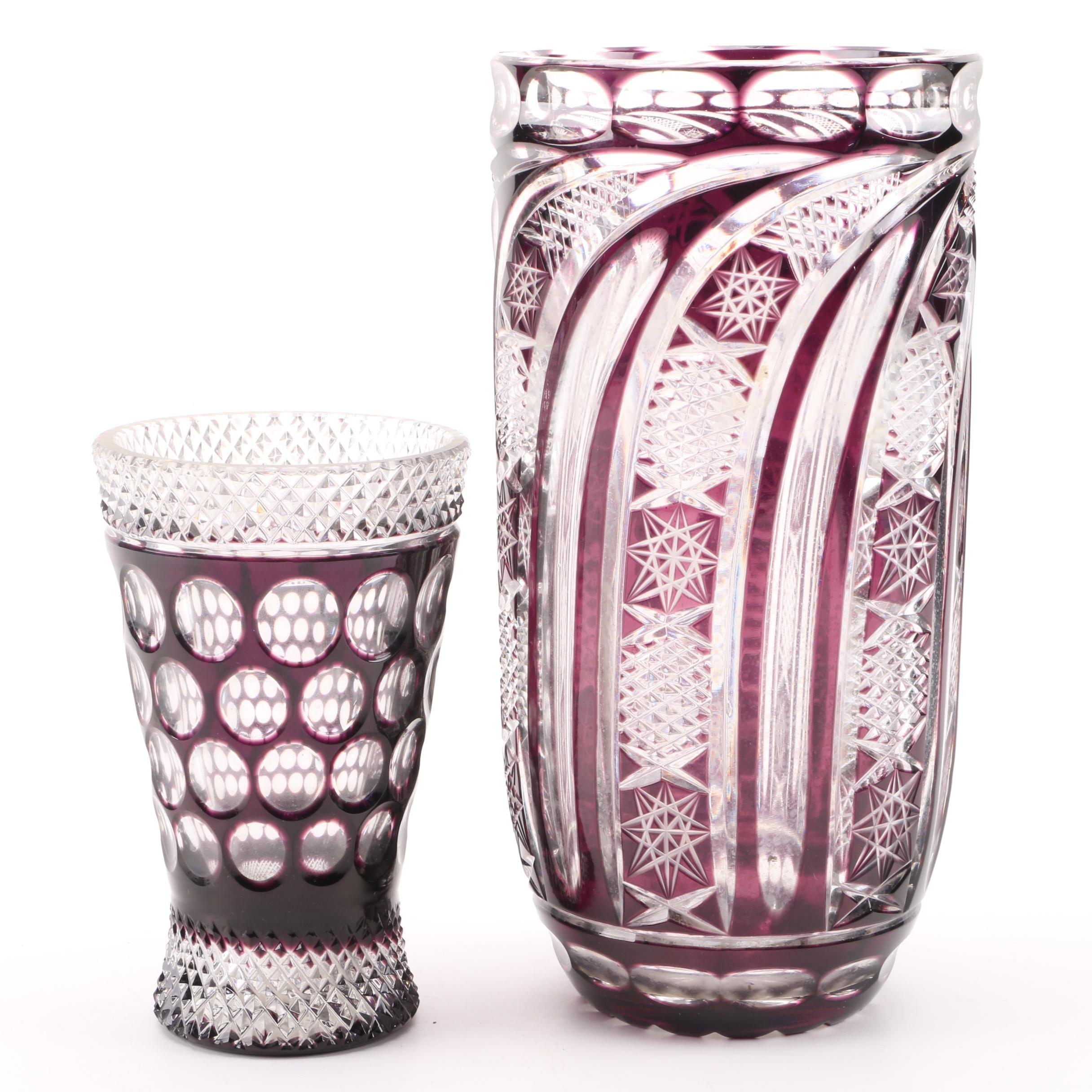 Ruby Crystal Vases