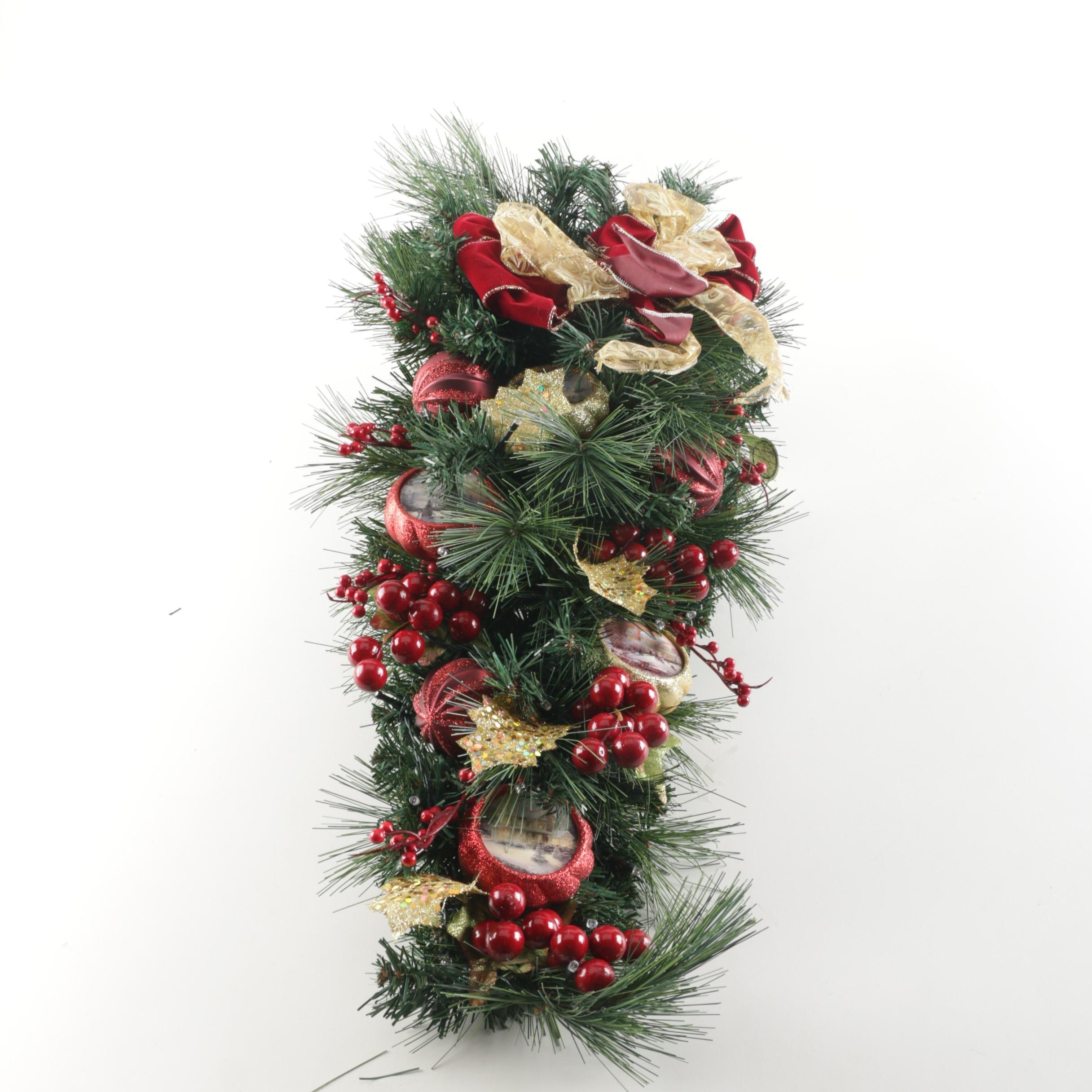 Thomas Kinkade Illuminated Christmas Garland